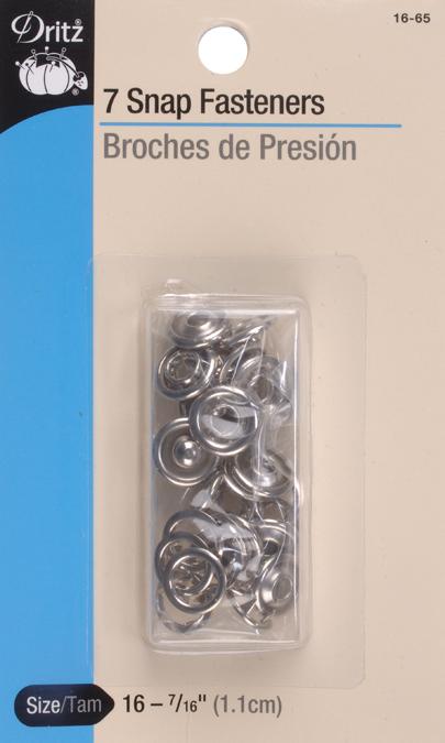 Dritz Snap Fasteners 7/Pkg-Nickel