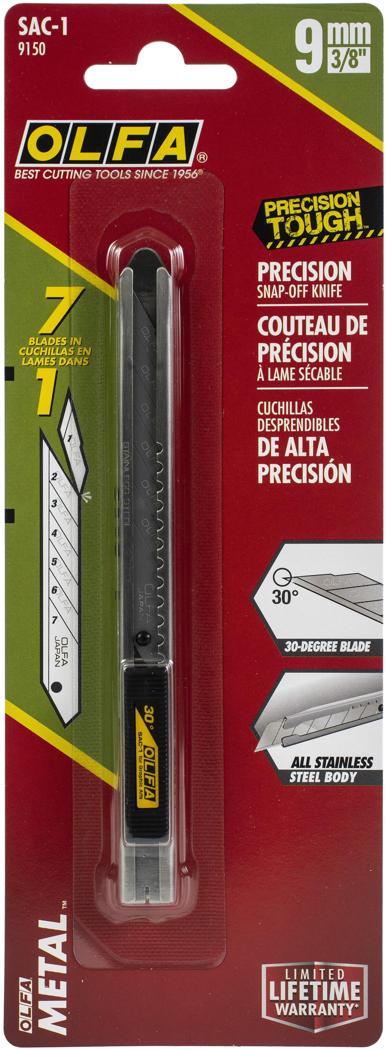 Olfa SAC-1 Stainless Steel Precision Graphics Knife