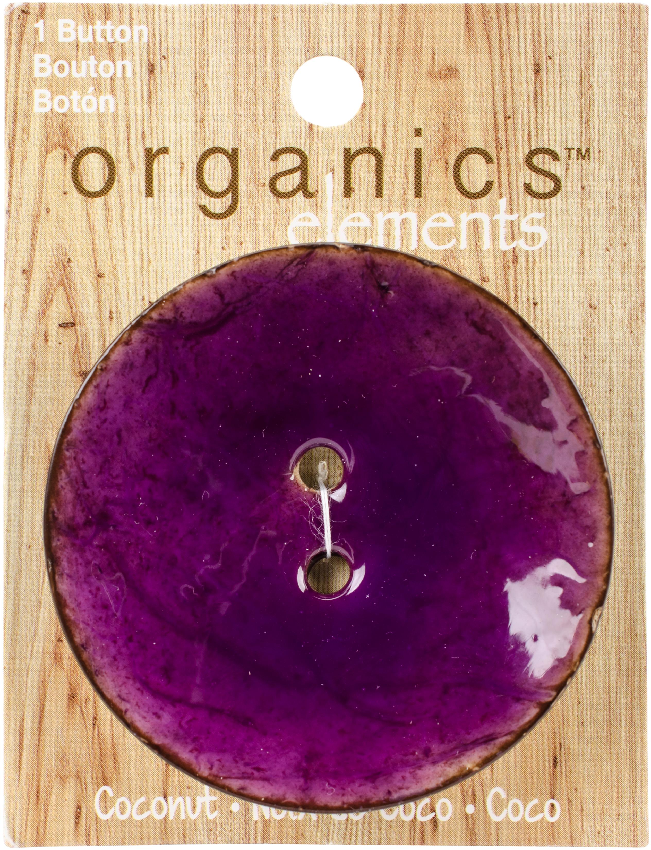 Purple Coconut Button