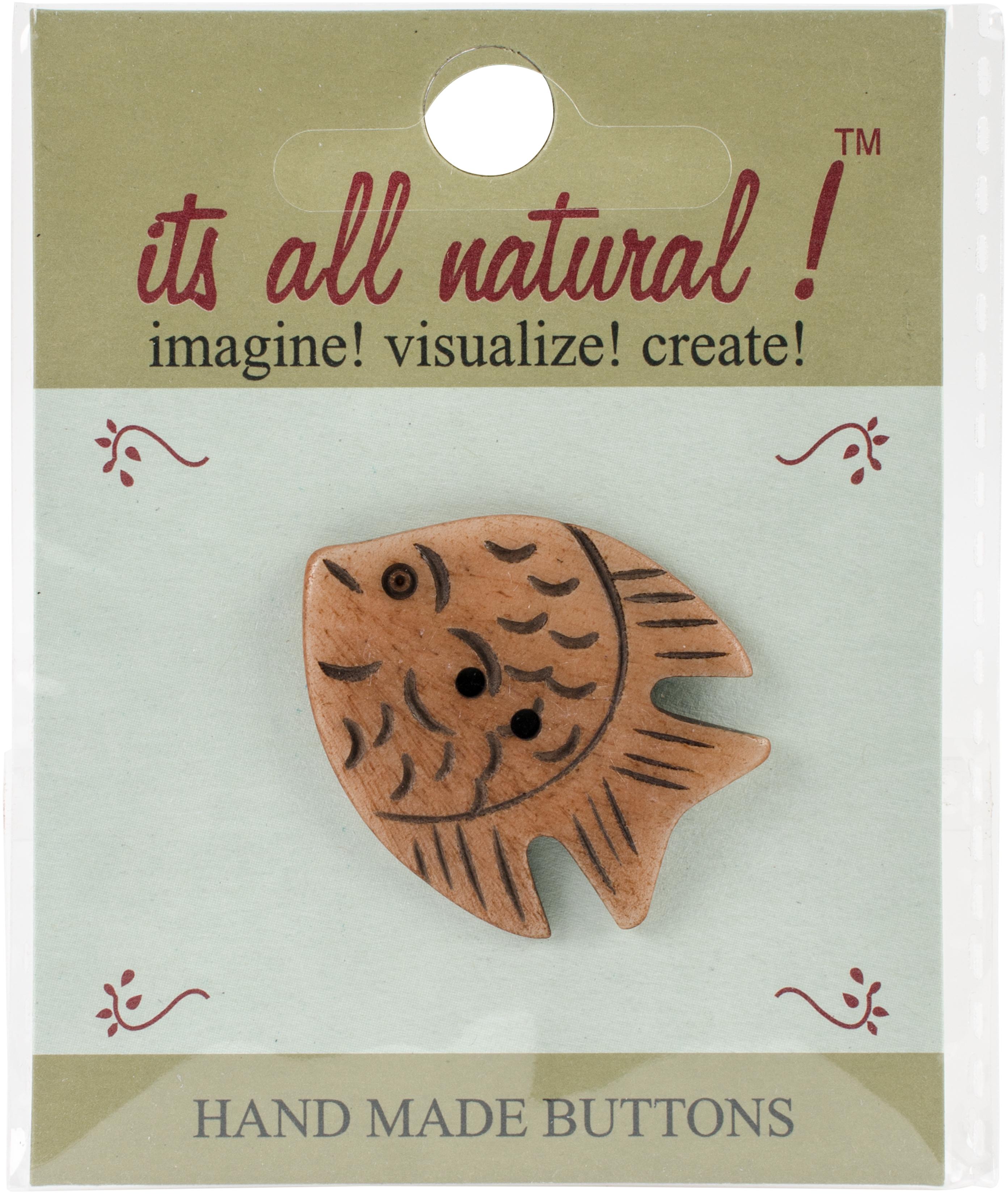 Handmade Button - Angel Fish