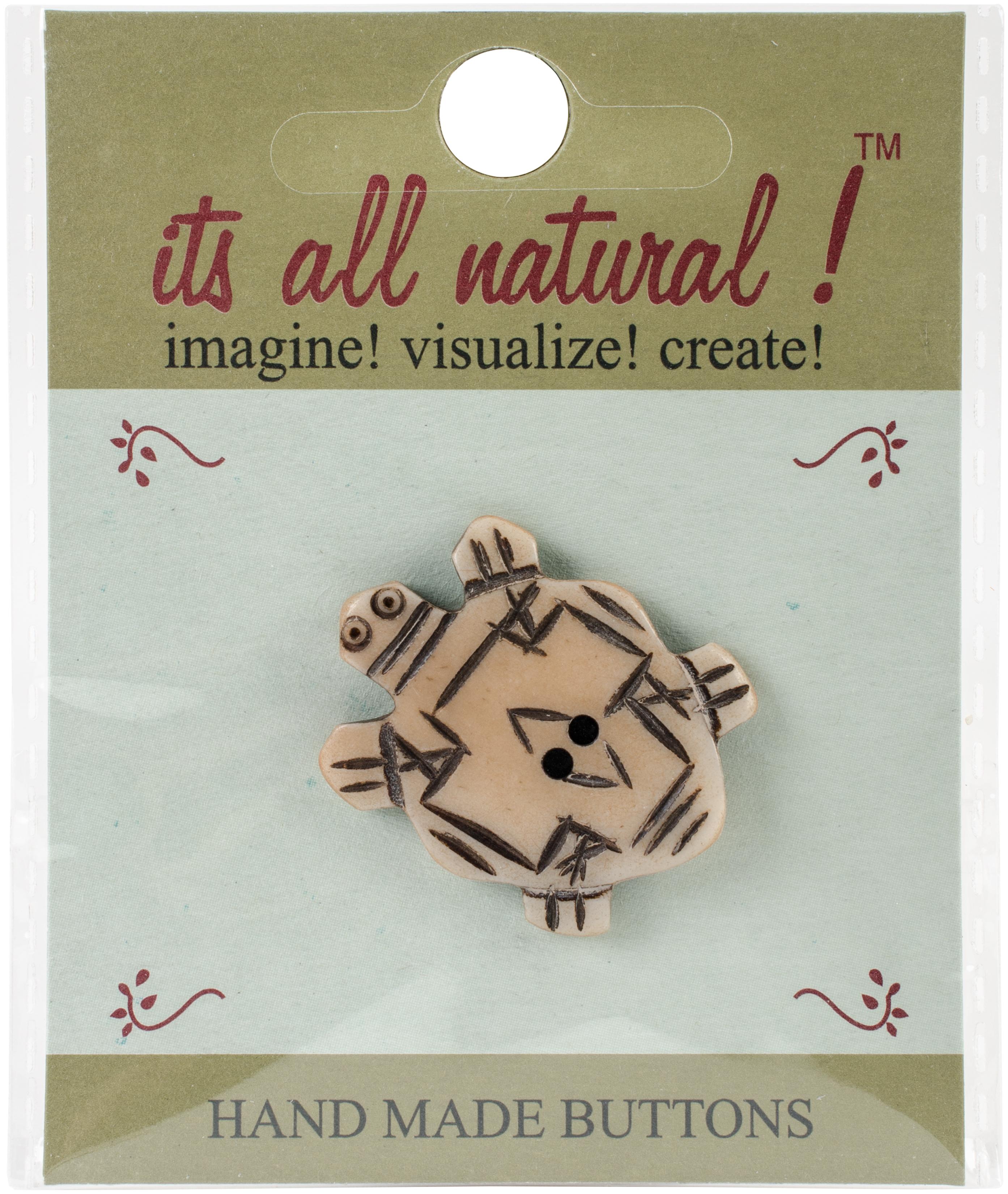 Handmade Bone Button - Turtle