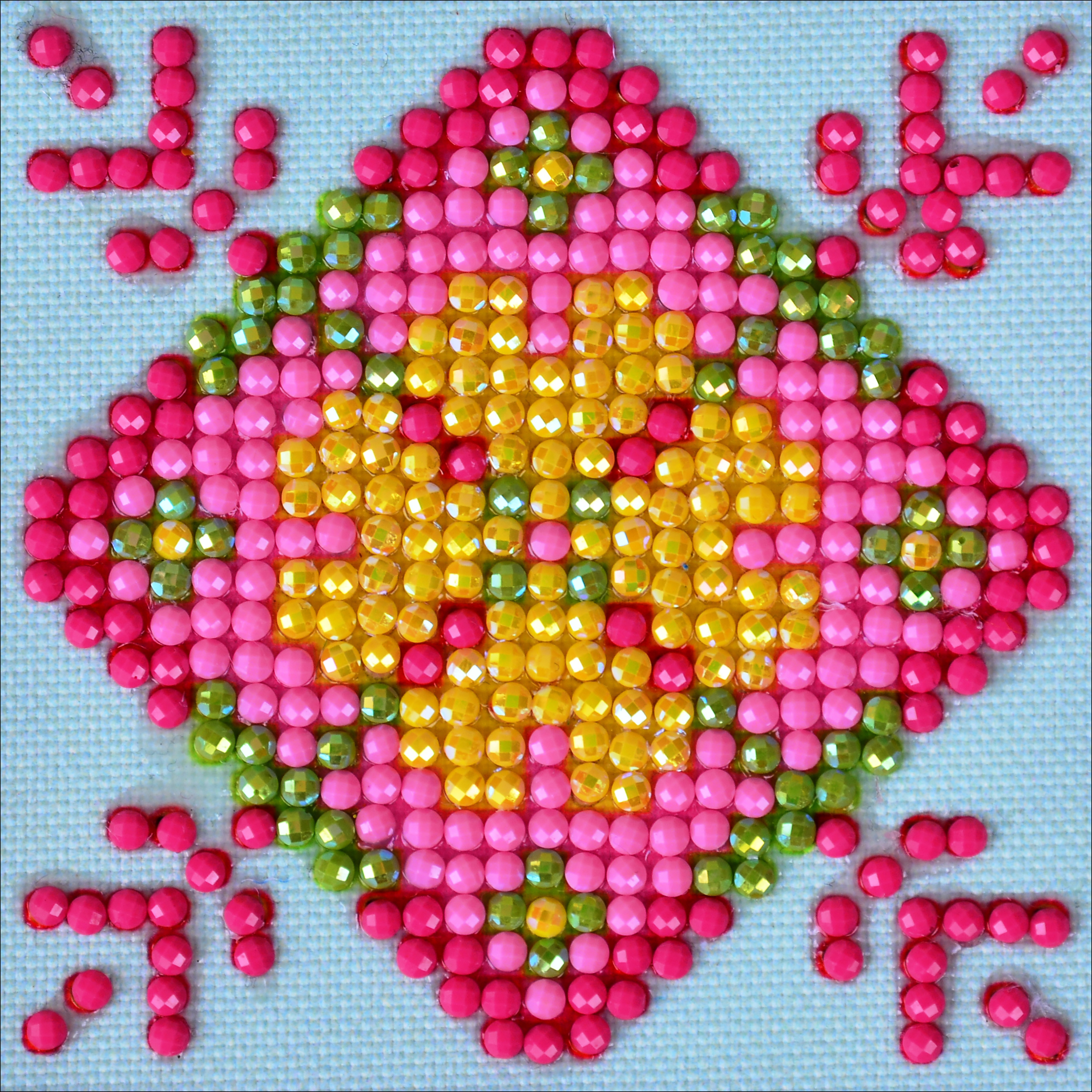 Diamond Dotz Diamond Embroidery Facet Art Kit 4.75X4.75-Patchwork Mandala 1