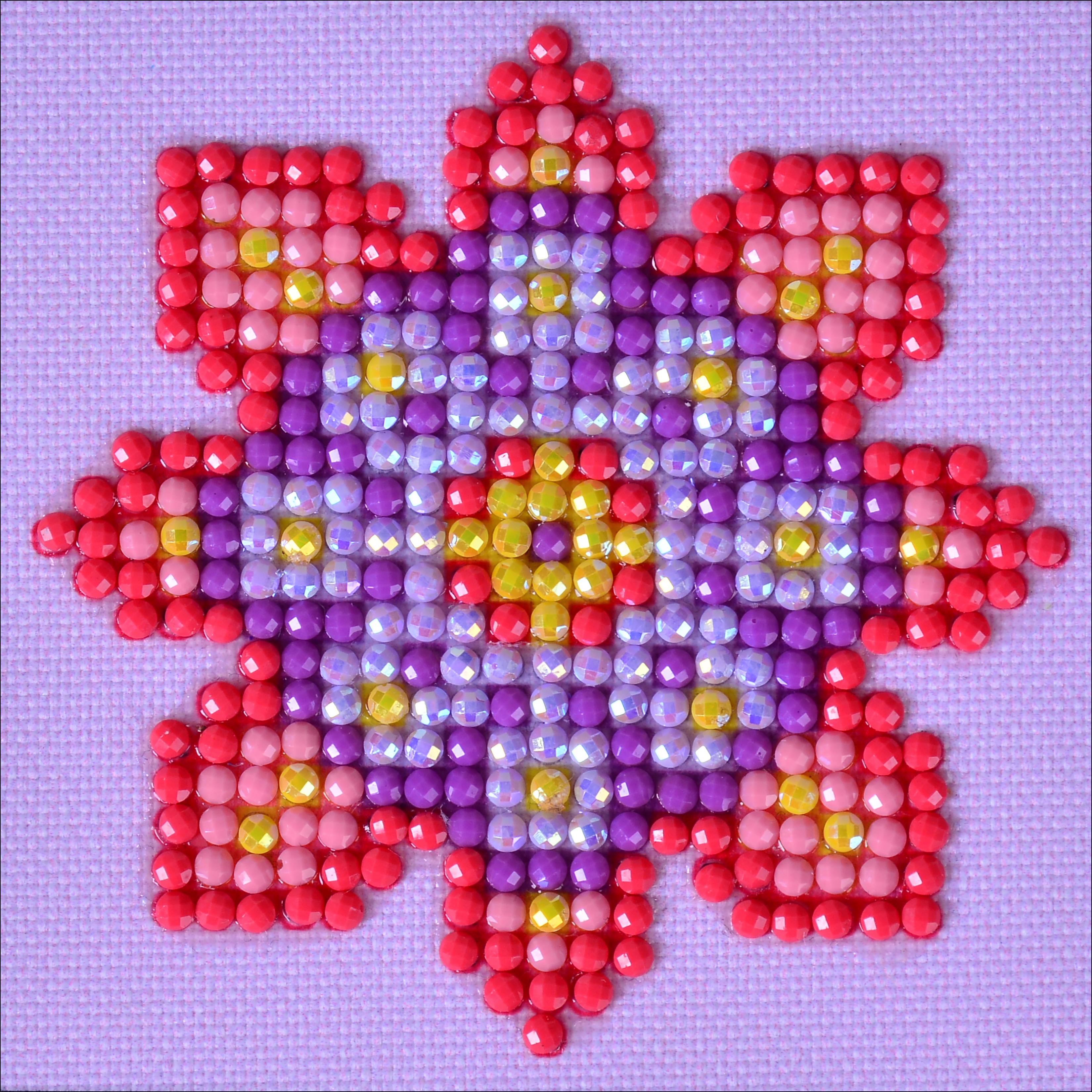 Diamond Dotz Diamond Embroidery Facet Art Kit 4.75X4.75-Flower Mandala 2
