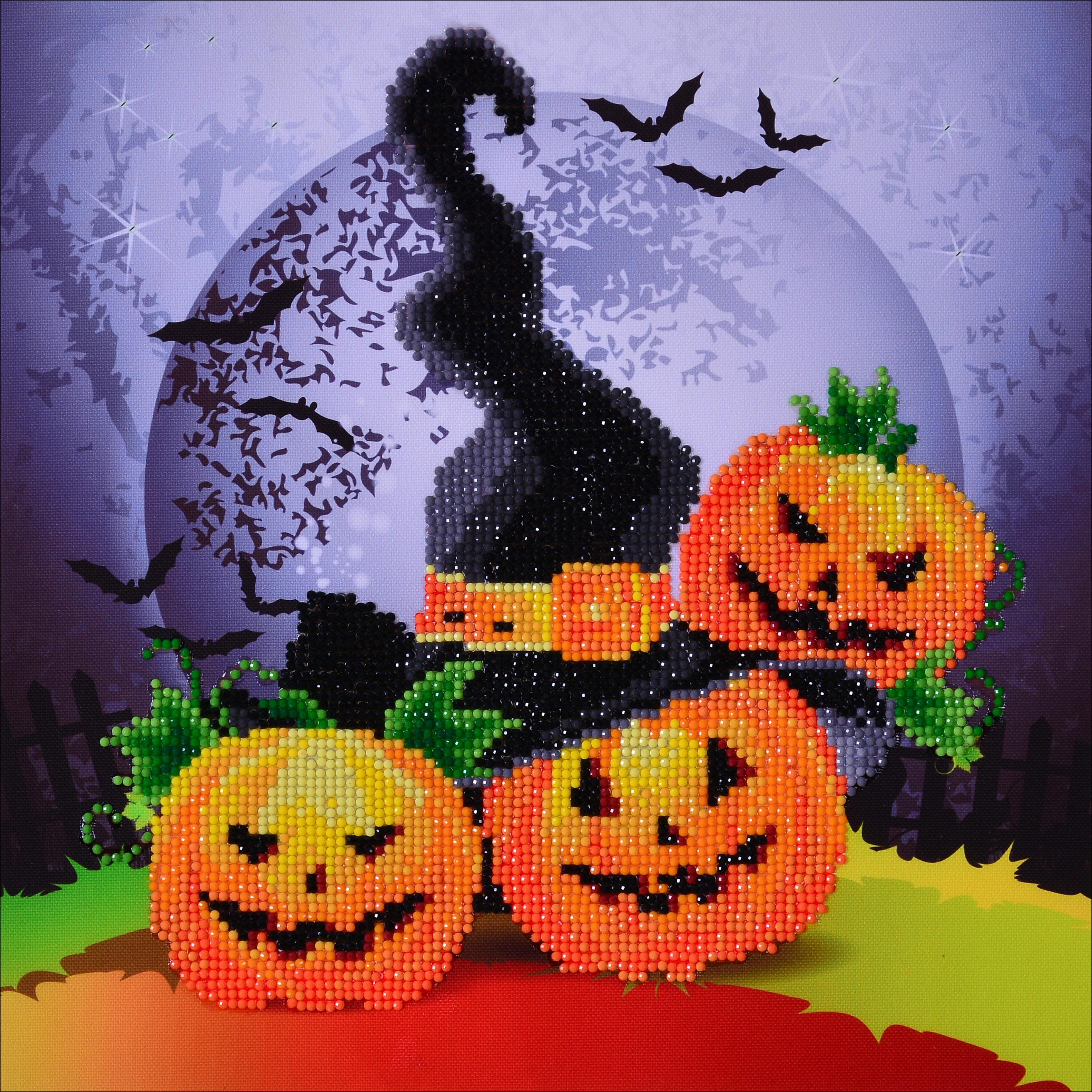 Diamond Dotz Diamond Embroidery Facet Art Kit 12.5X12.5-Halloween Magic (Witches Hat)
