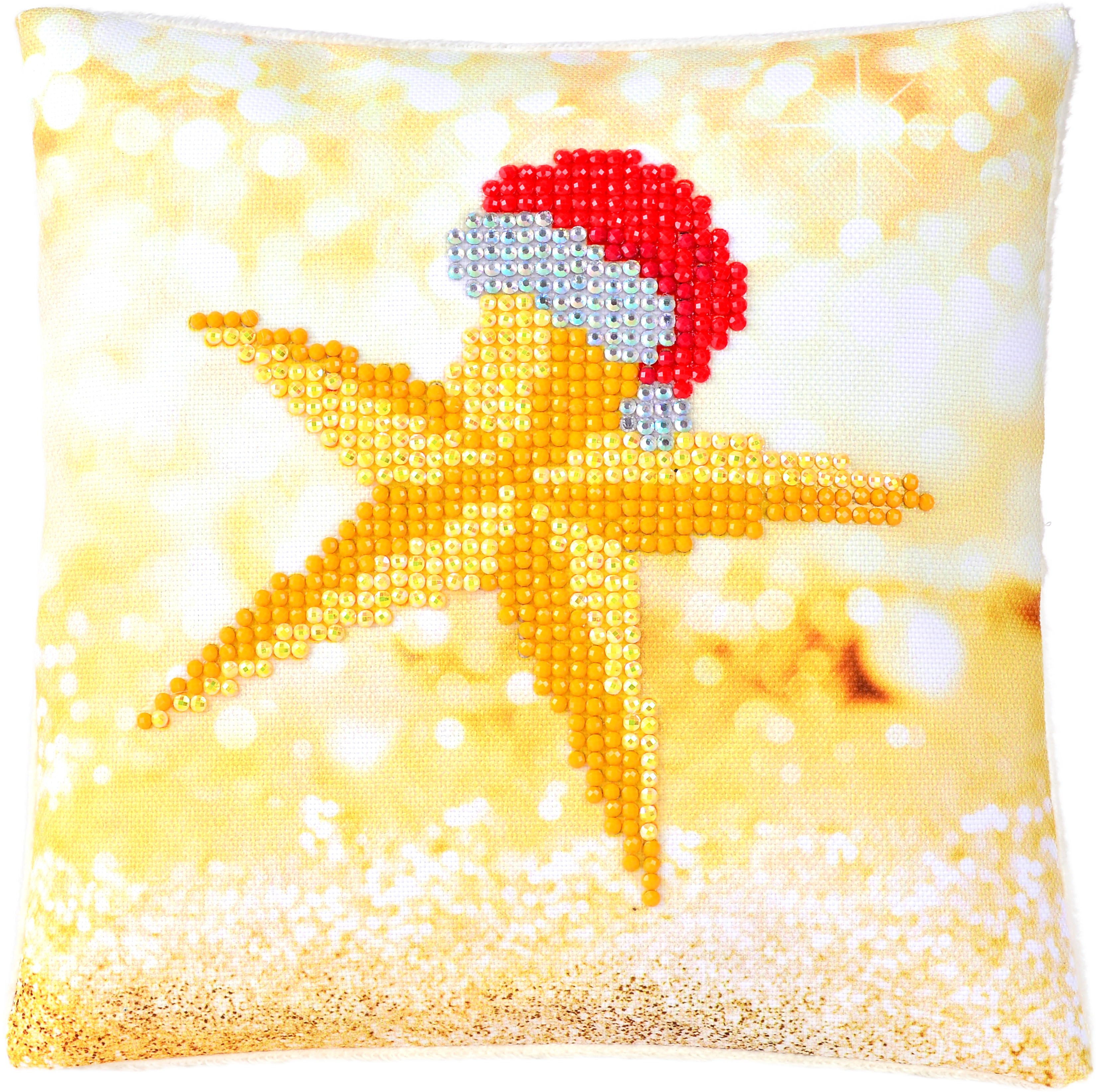 Diamond Dotz Diamond Embroidery Pillow Facet Art Kit 8X8-Christmas Star Pillow