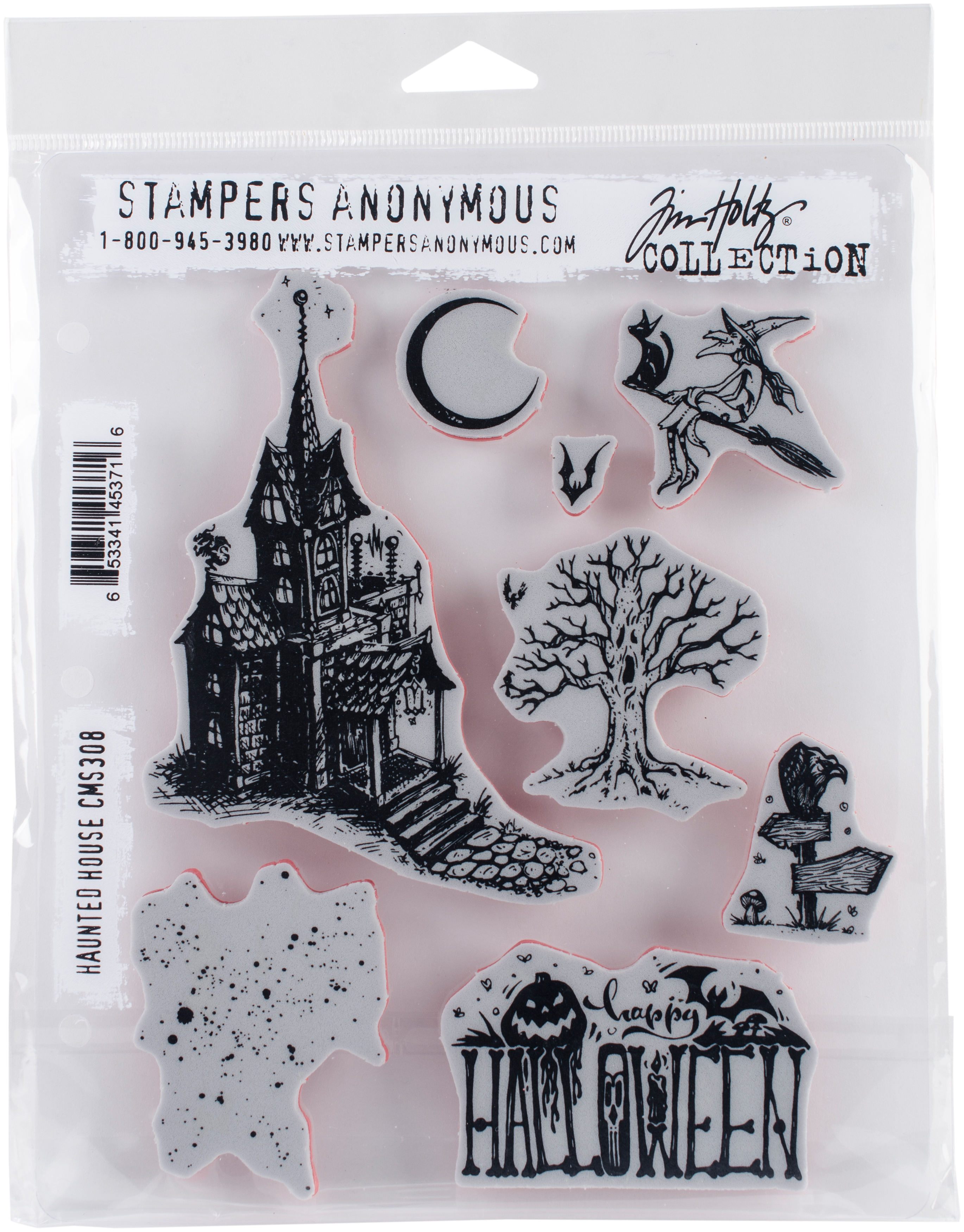 Tim Holtz Cling Stamps 7X8.5-Haunted House