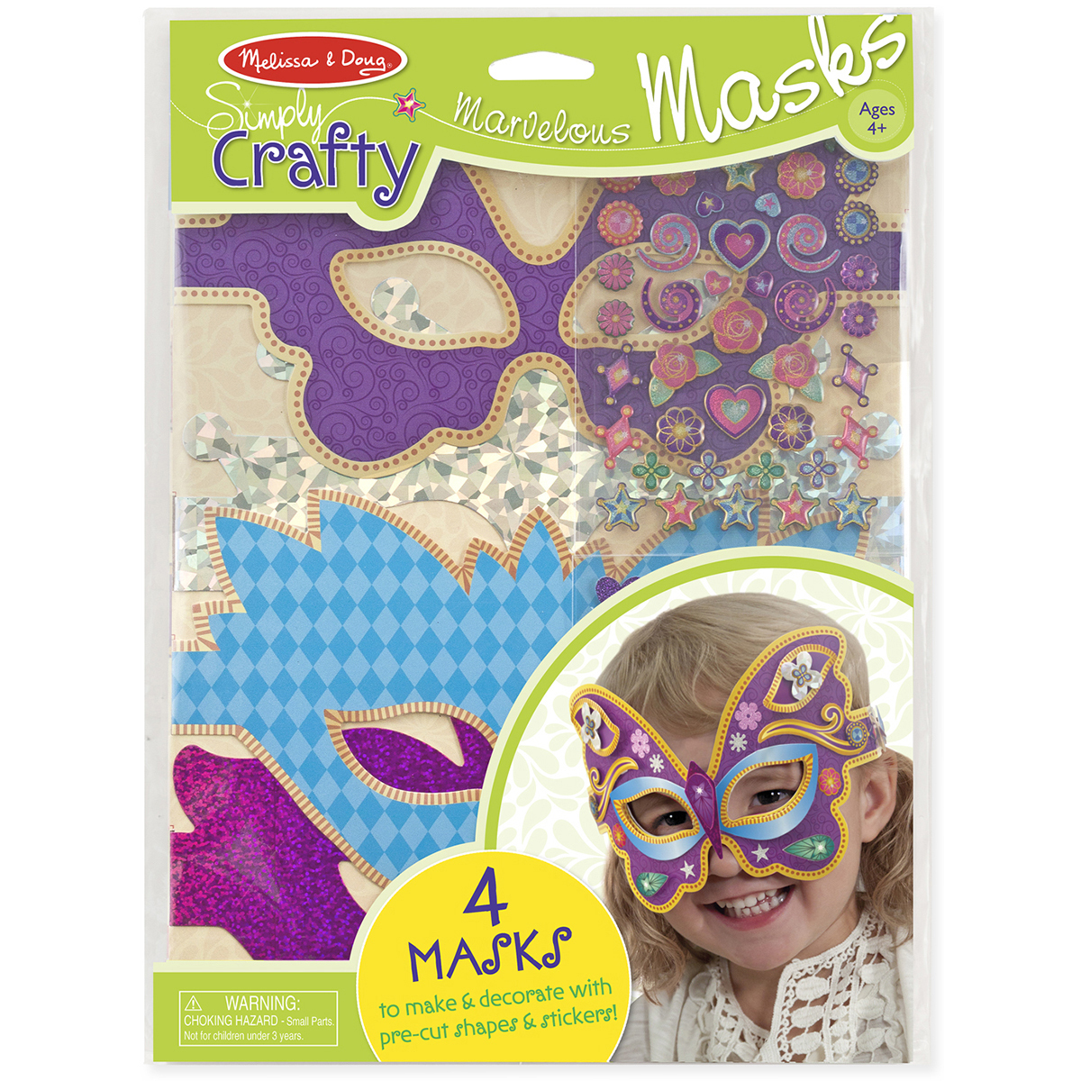 Simply Crafty Marvelous Masks Kit-Makes 4