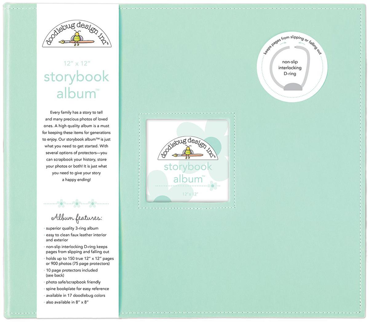 Doodlebug Storybook D-Ring Album 12X12-Mint