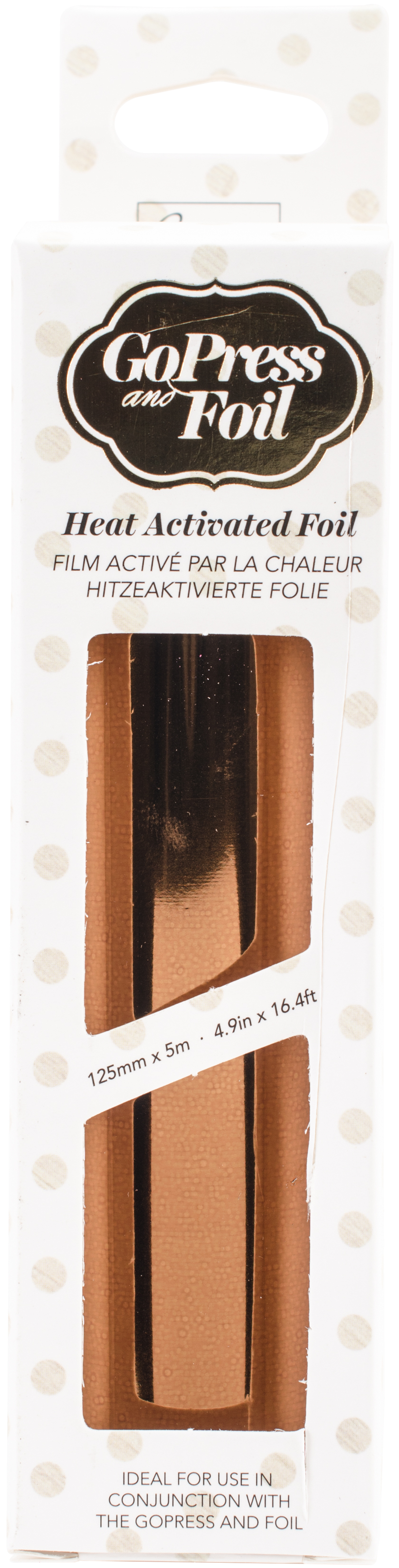 Couture Creations Foil 5X16.4'-Chocolate Copper - Iridescent Finish