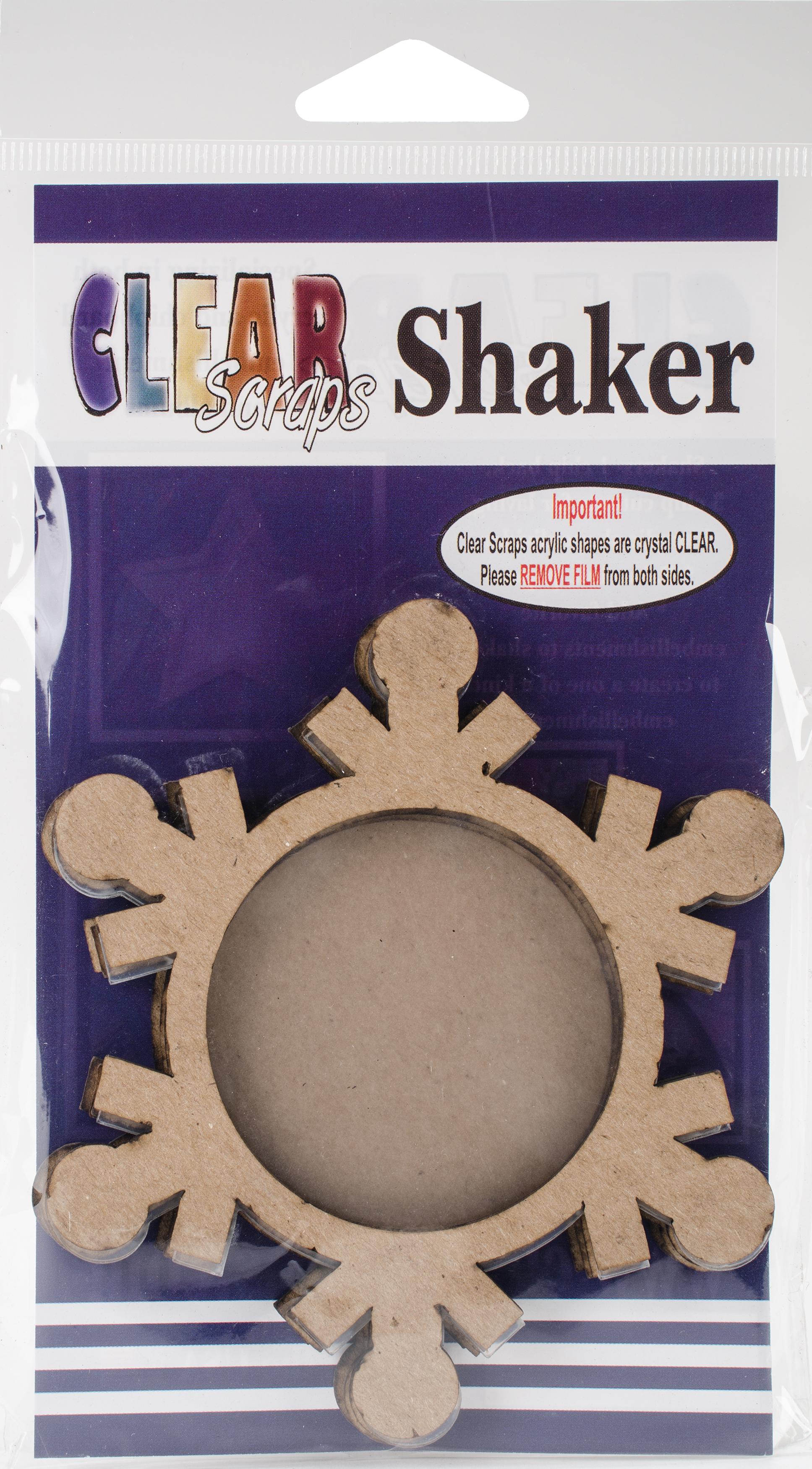 Clear Scraps Snowflake Shaker