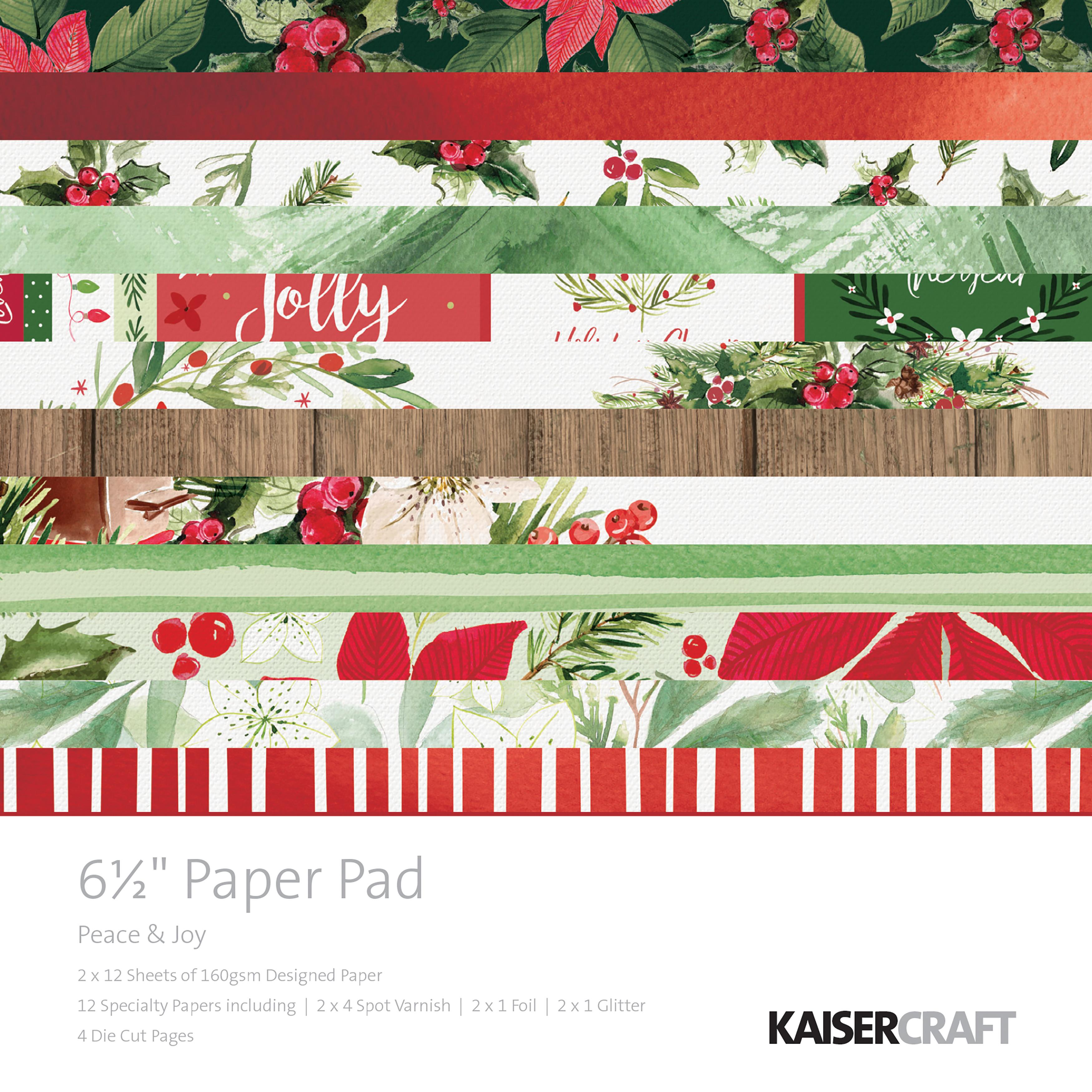 Kaisercraft Paper Pad 6.5X6.5 40/Pkg-Peace & Joy