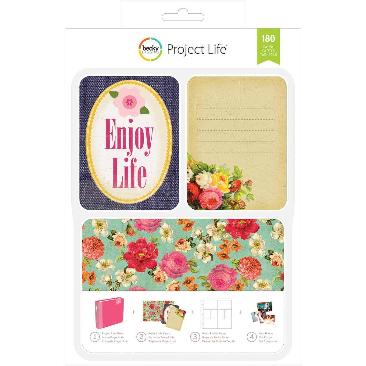 Project Life Card Kit 180/Pkg-Enjoy Life