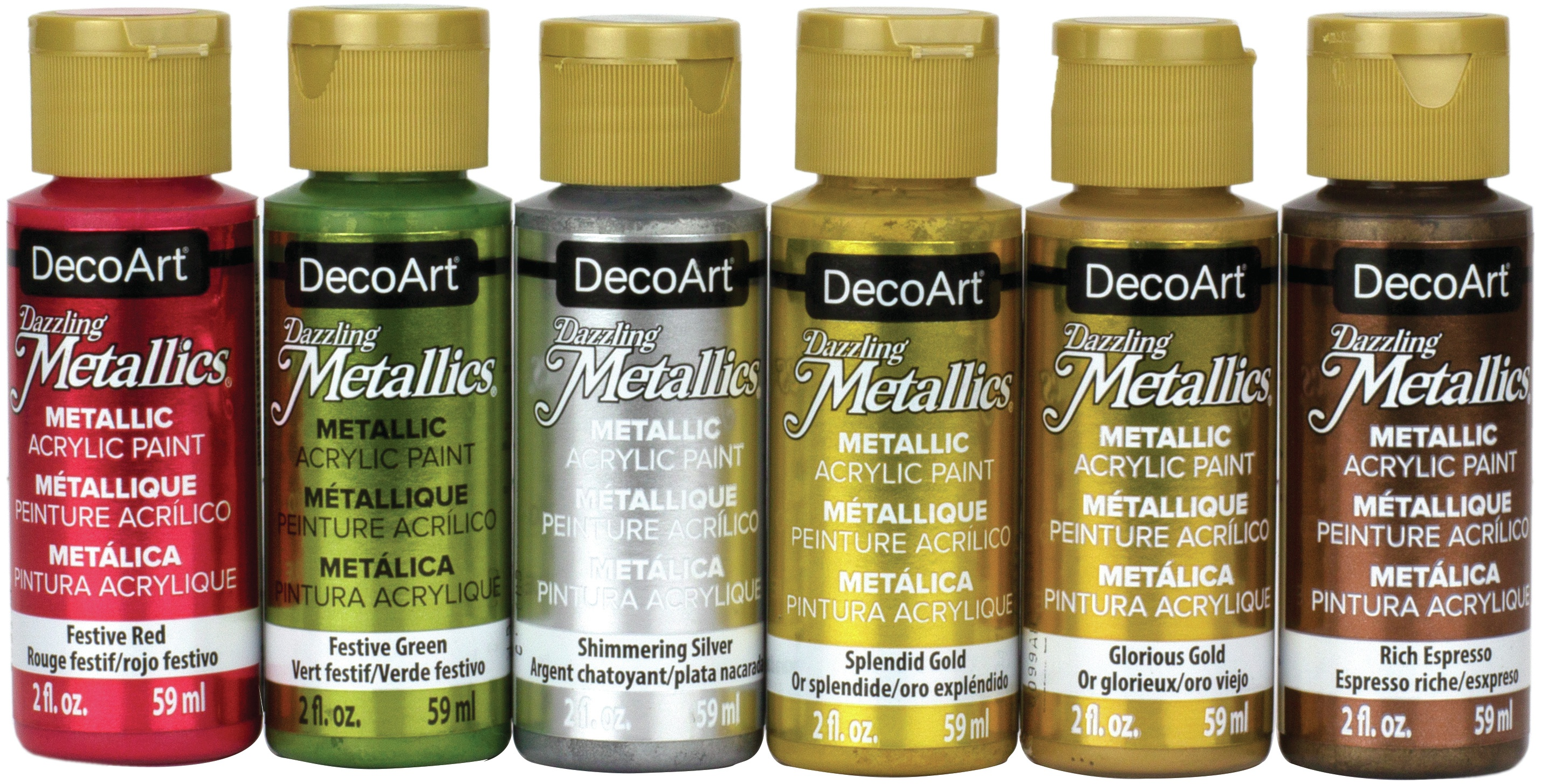 DecoArt Dazzling Metallics Value Pack 6/Pkg-