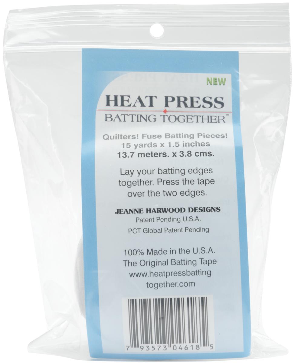 Heat Press Batting Together - White-1.5X15yd