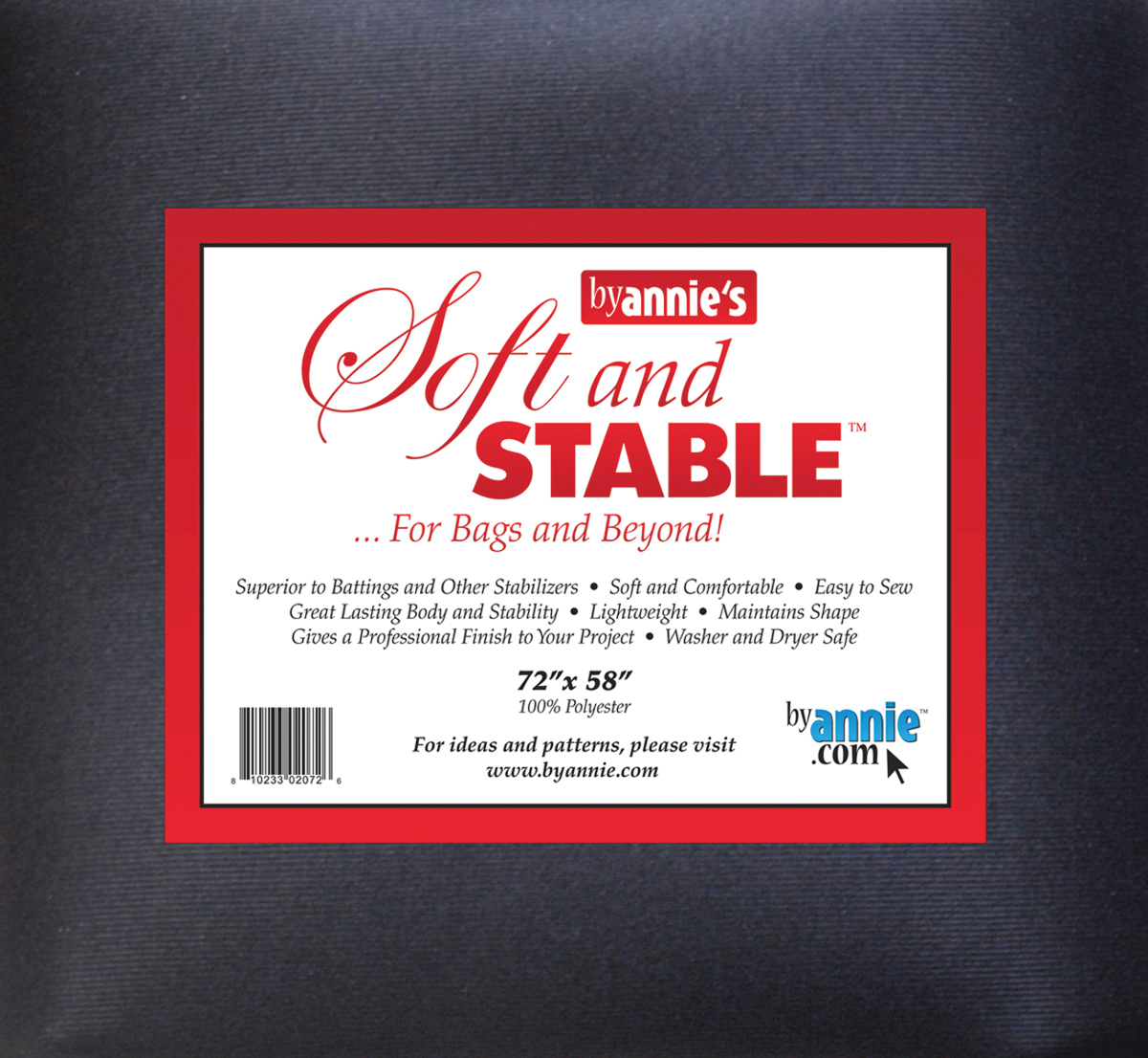 Soft and Stable Black 72 x 58