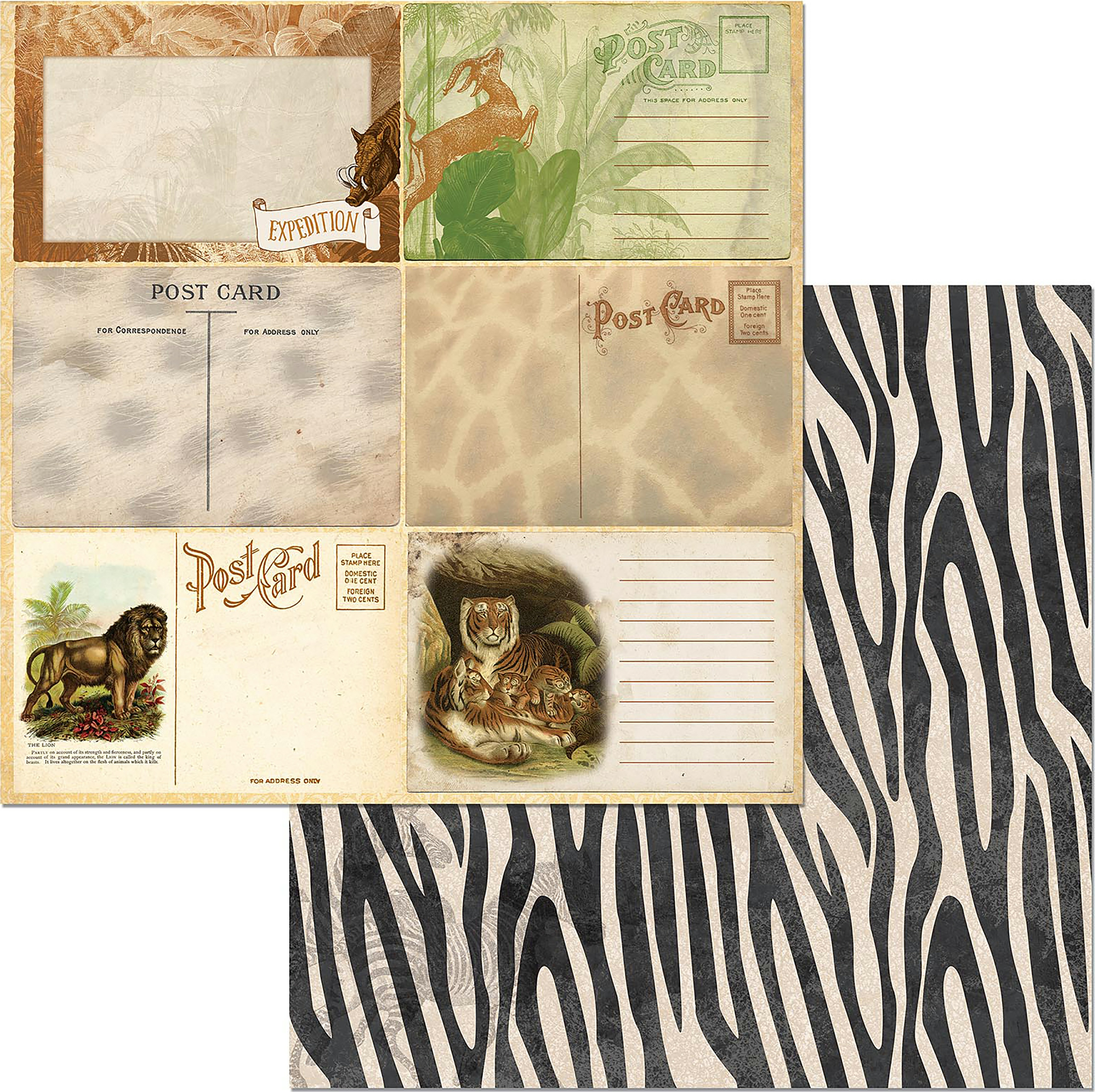 Jungle Life Double-Sided Cardstock 12X12-Prowl