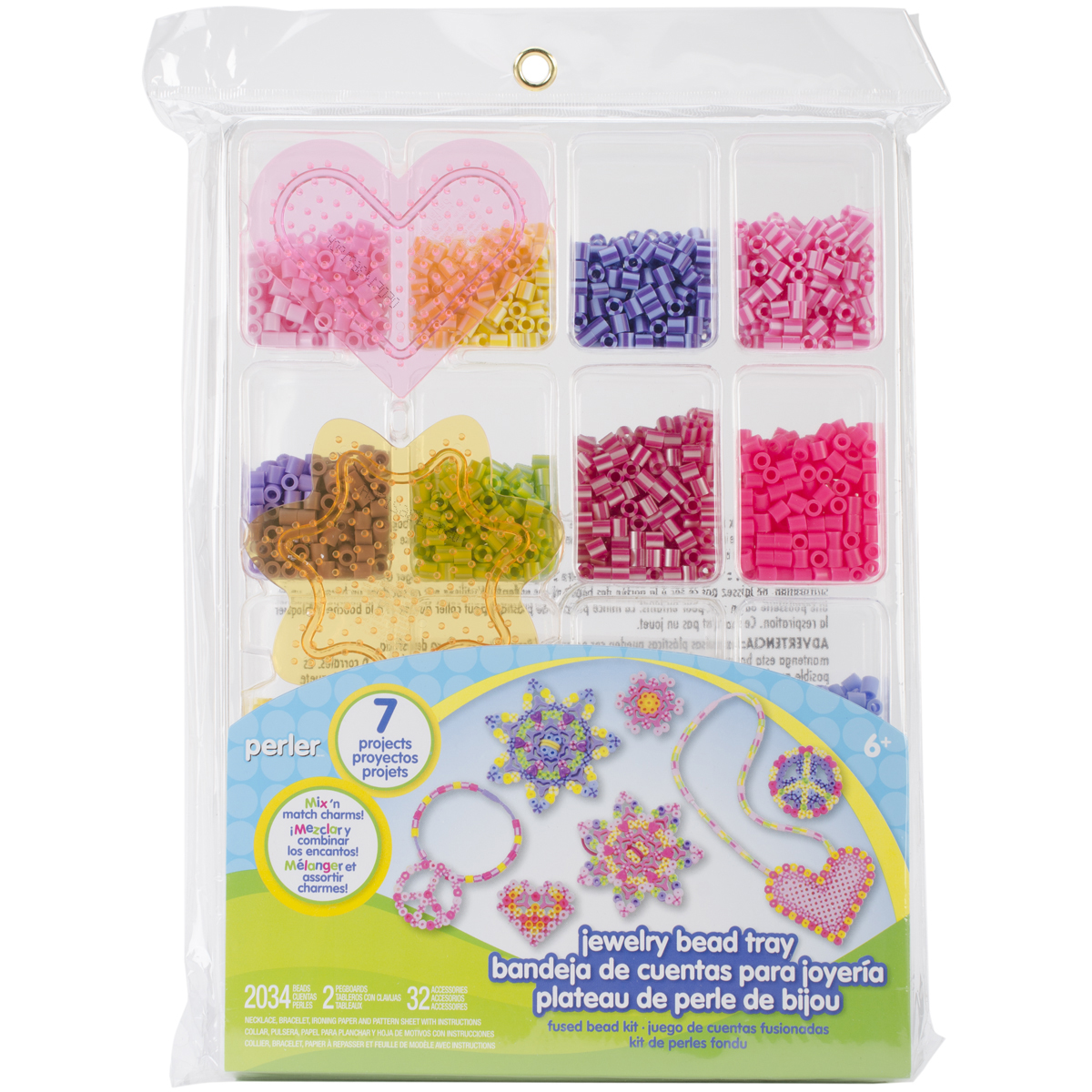 Perler Fused Bead Kit-Jewelry Bead Tray
