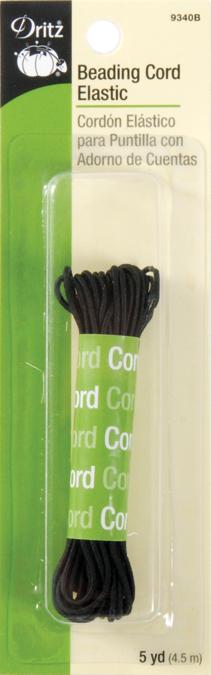 Dritz Beading Cord Elastic 4yd-Black