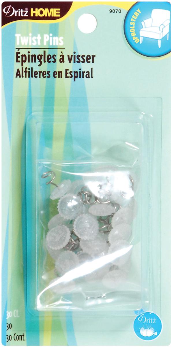 Dritz Home Twist Pins 30/Pkg-Clear