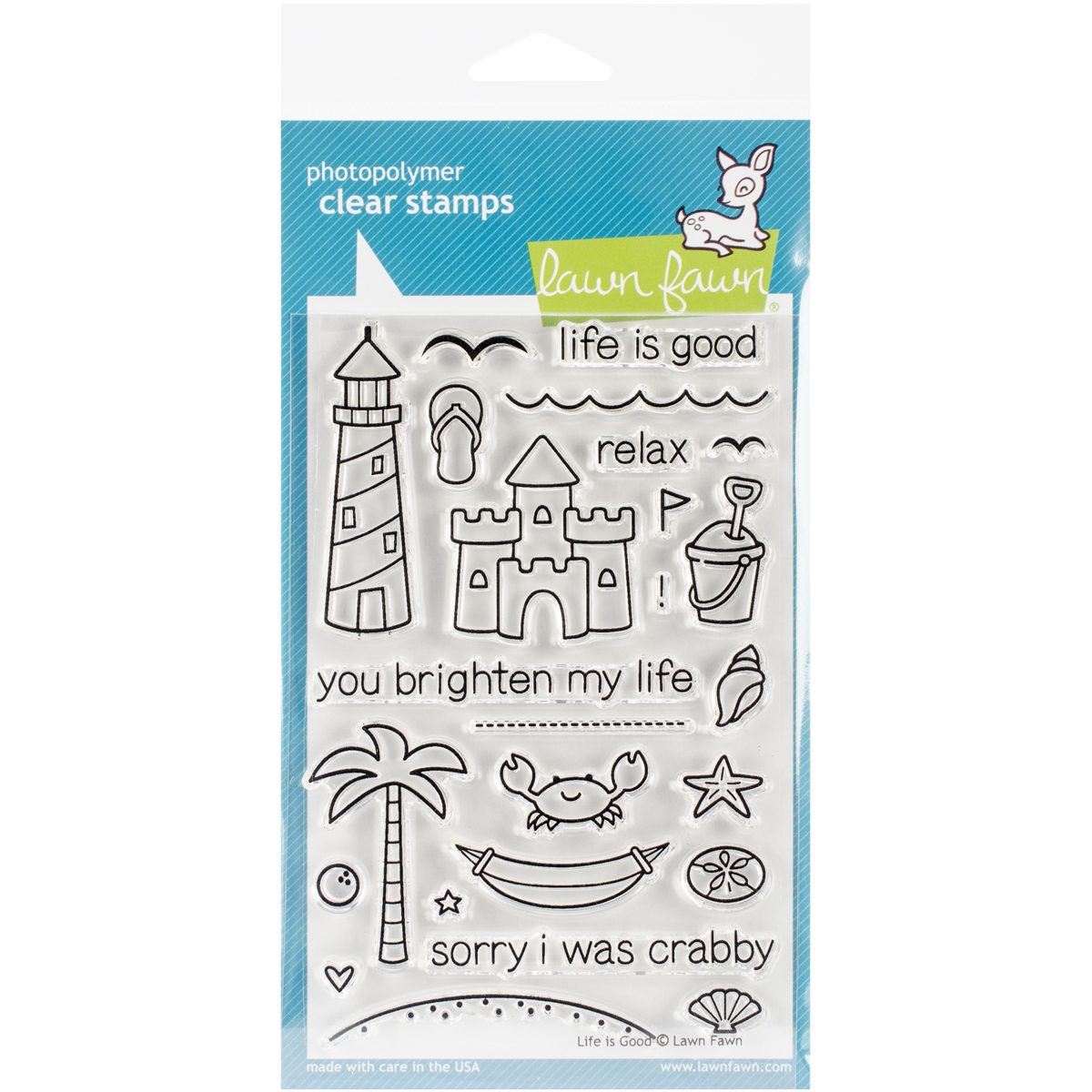 Lawn Fawn Clear Stamps 4X6-Life Is Good