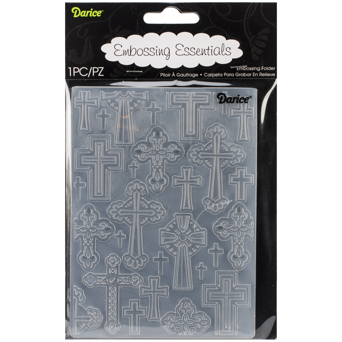 Embossing Folder 4.25X5.75-Crosses