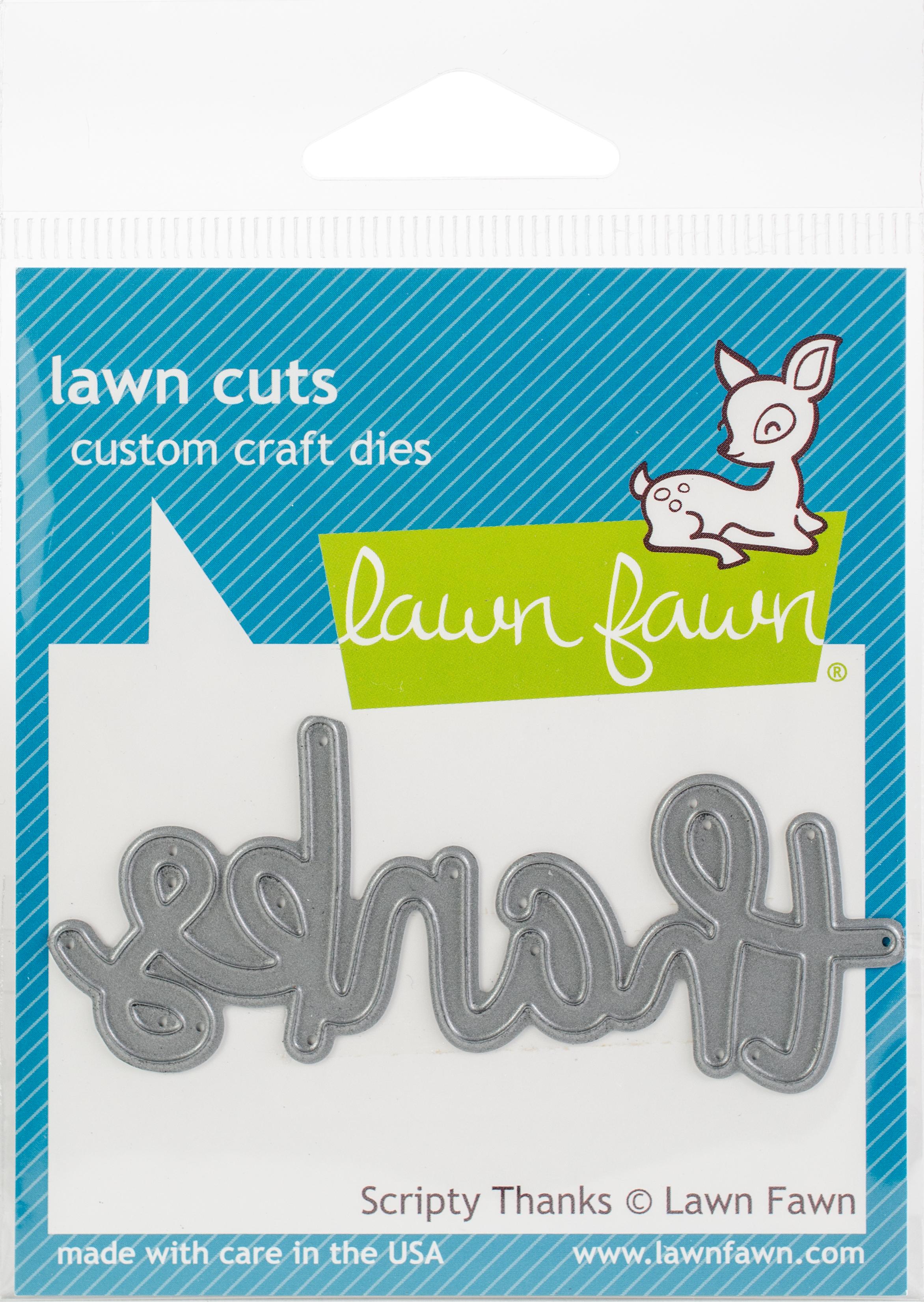 Lawn Cuts Custom Craft Die -Scripty Thanks