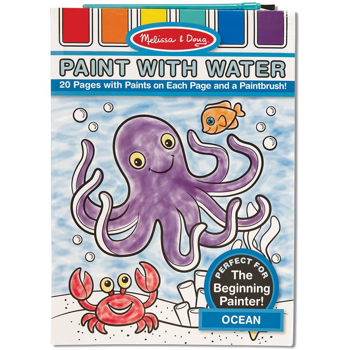 Paint W/Water Pad 8.25X11 20pgs-Ocean