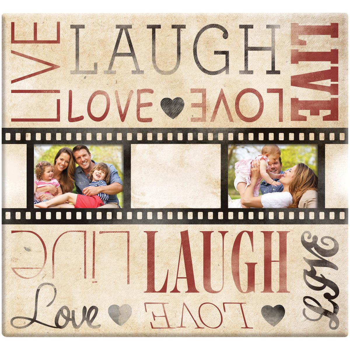 MBI Live Laugh Love Film Strip Post Bound Album 12X12