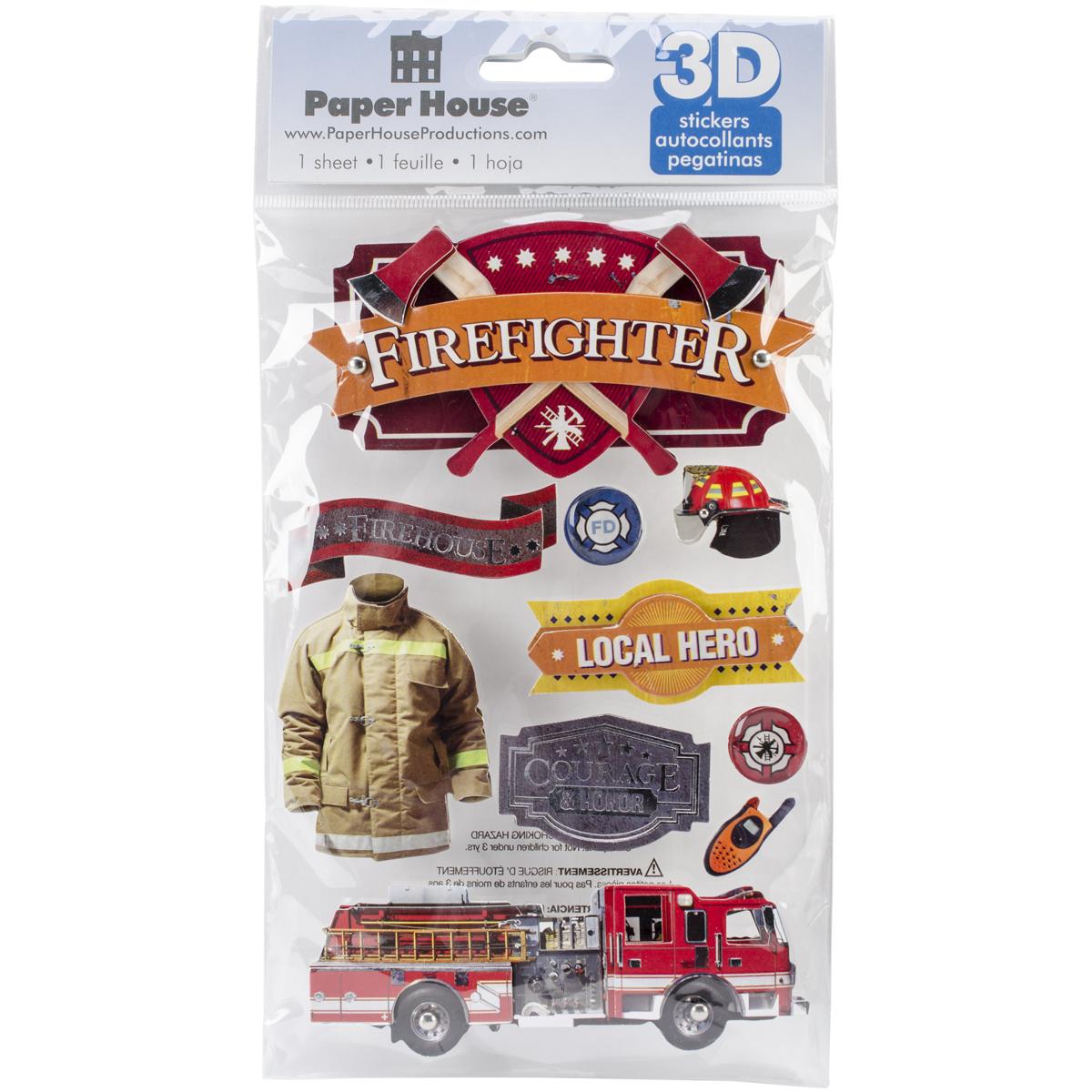 Fireman 3D Stickers