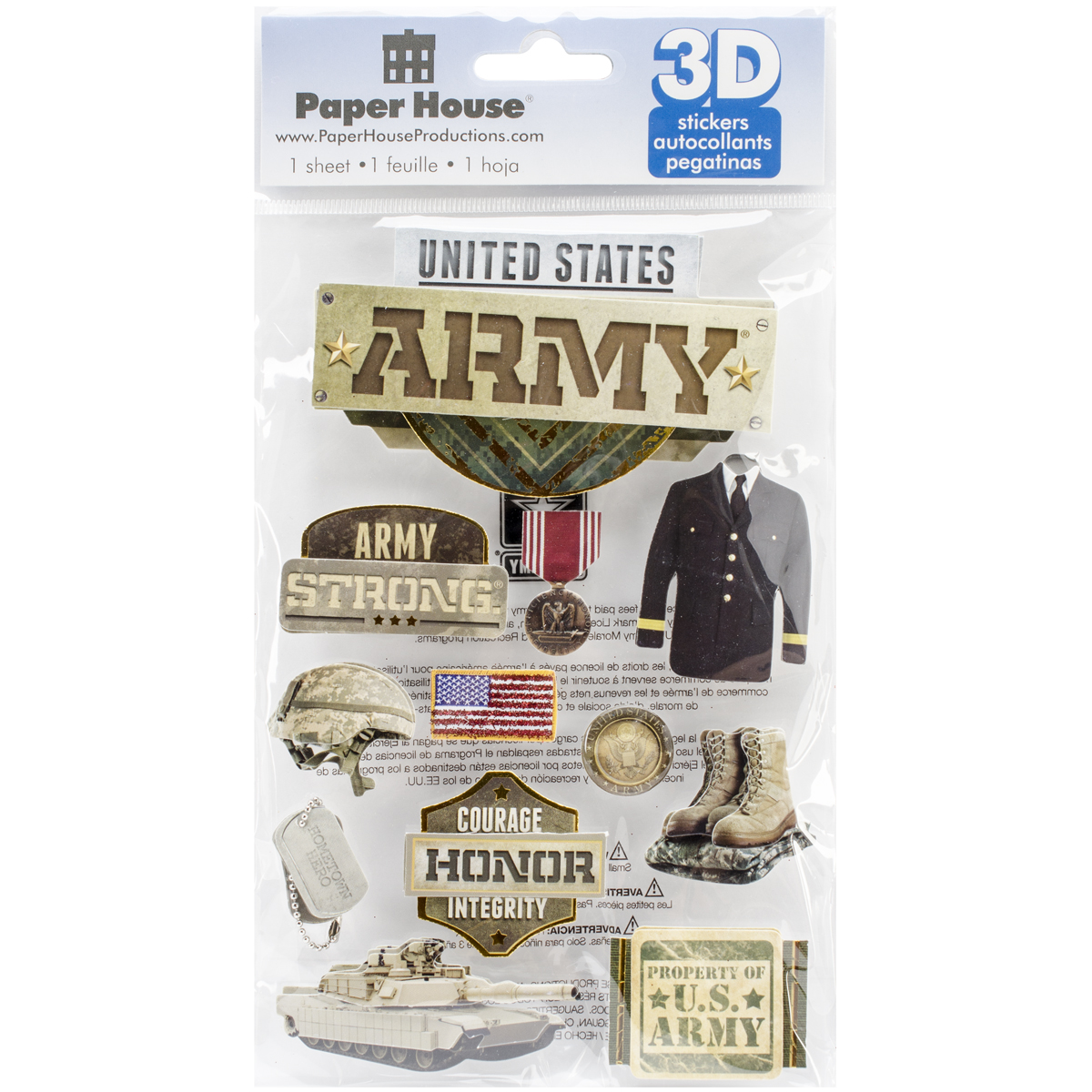 ARMY      -3D STICKERS