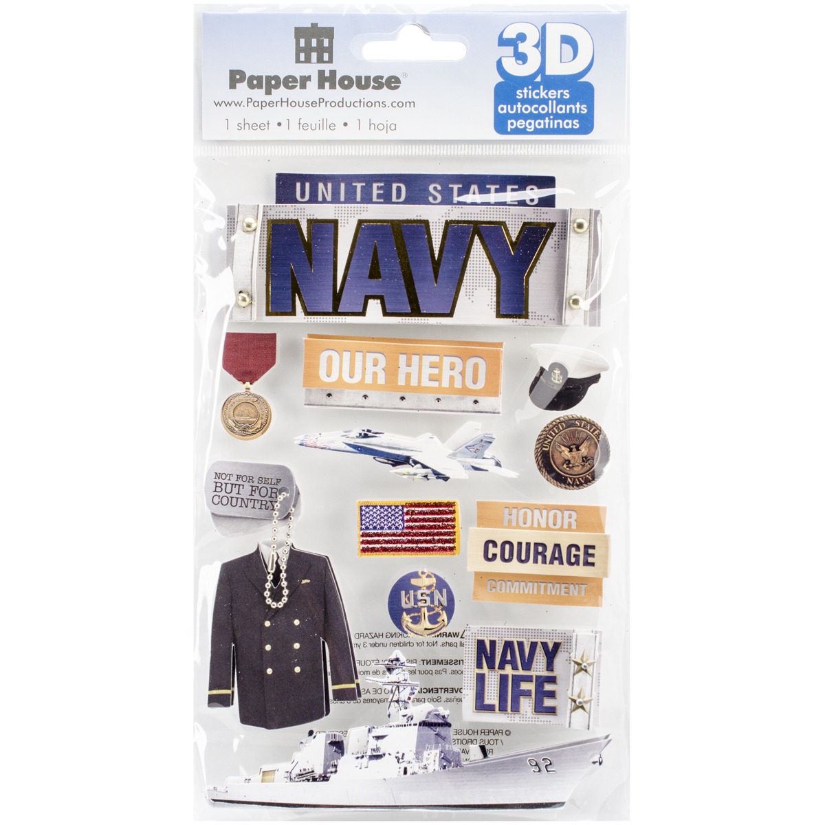 NAVY      -3D STICKERS