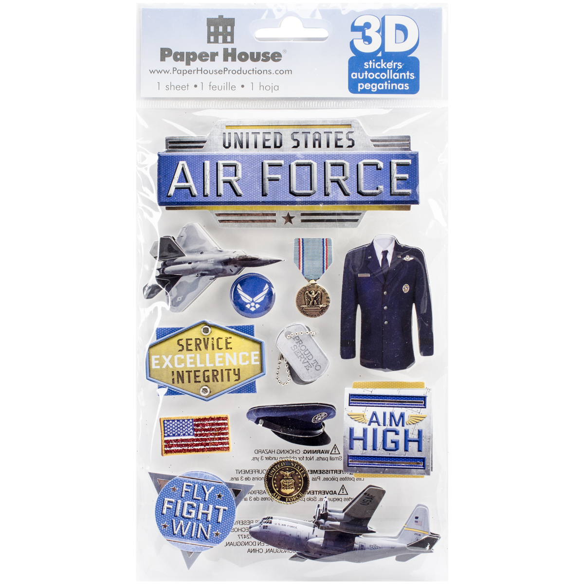 AIR FORCE -3D STICKERS