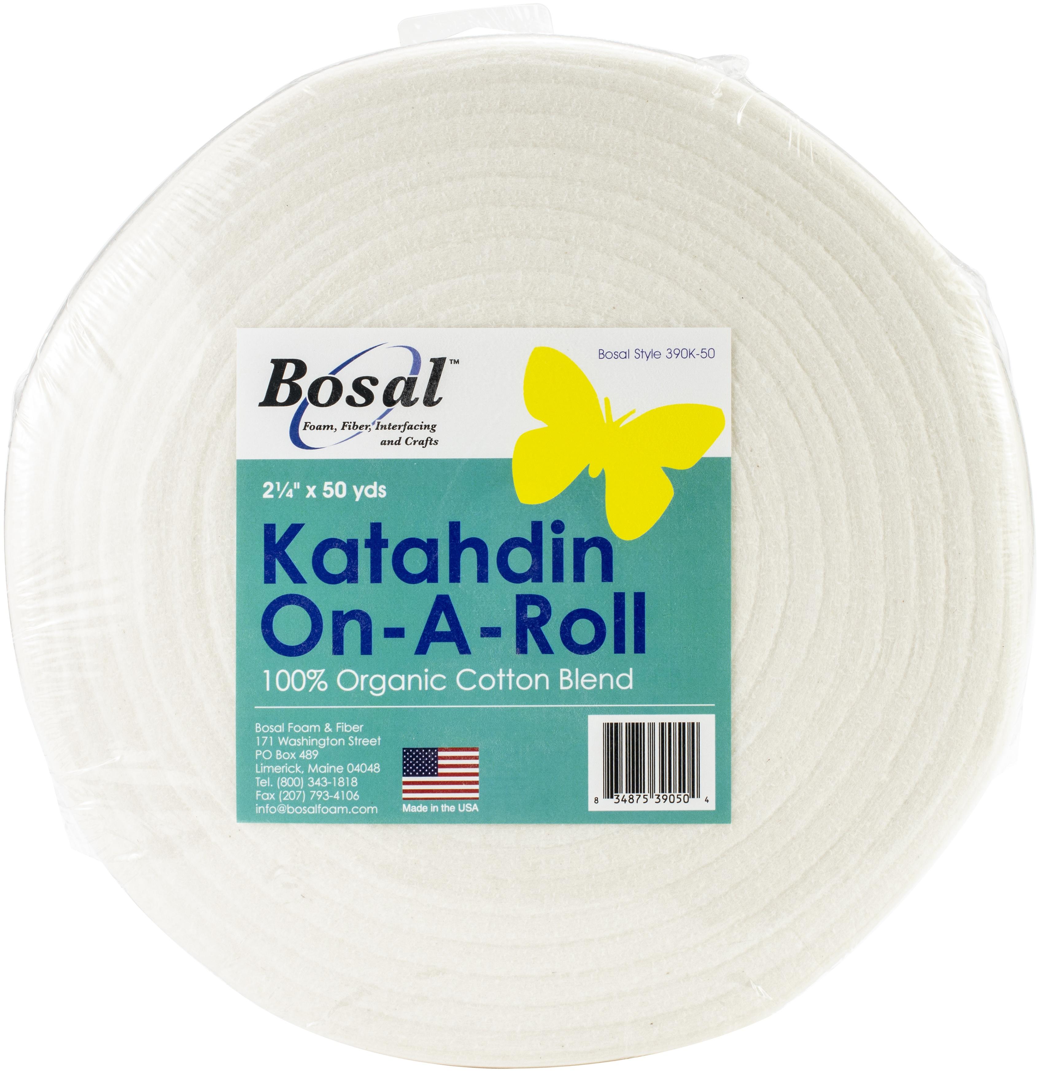 Bosal Katahdin On-A-Roll 100% Organic Cotton Batting-2.25X50yd