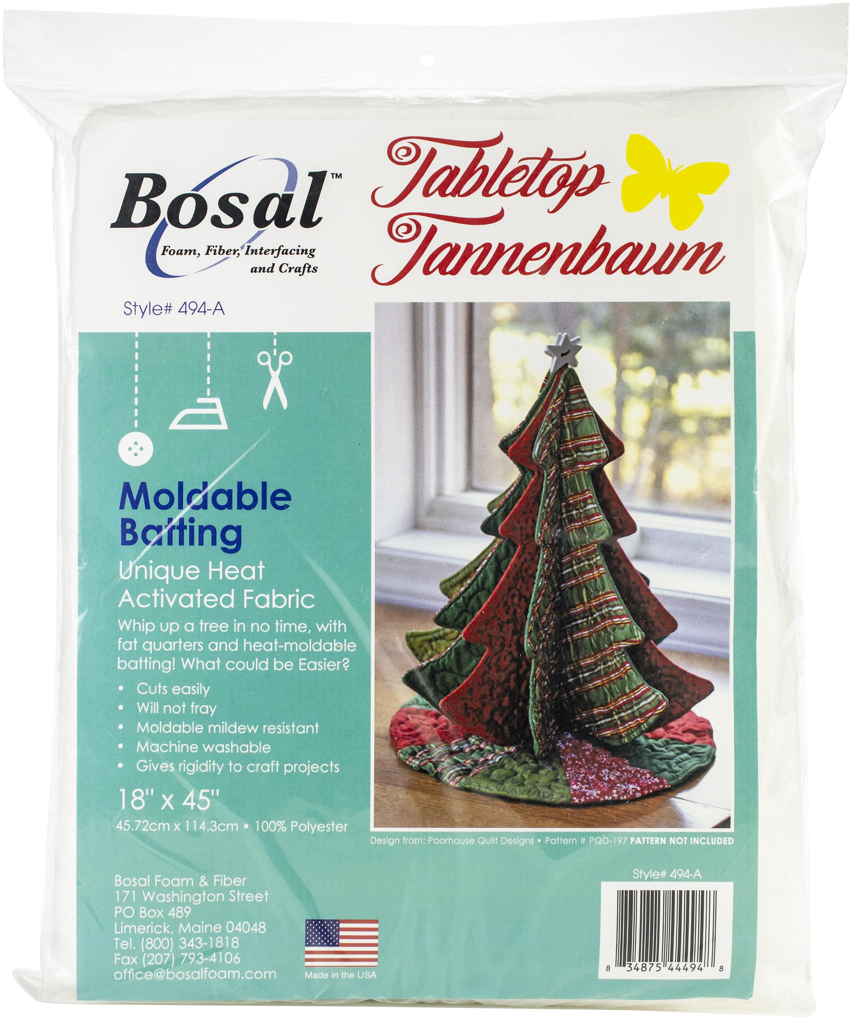 Bosal Moldable Batting 18X45-Tabletop Tannenbaum