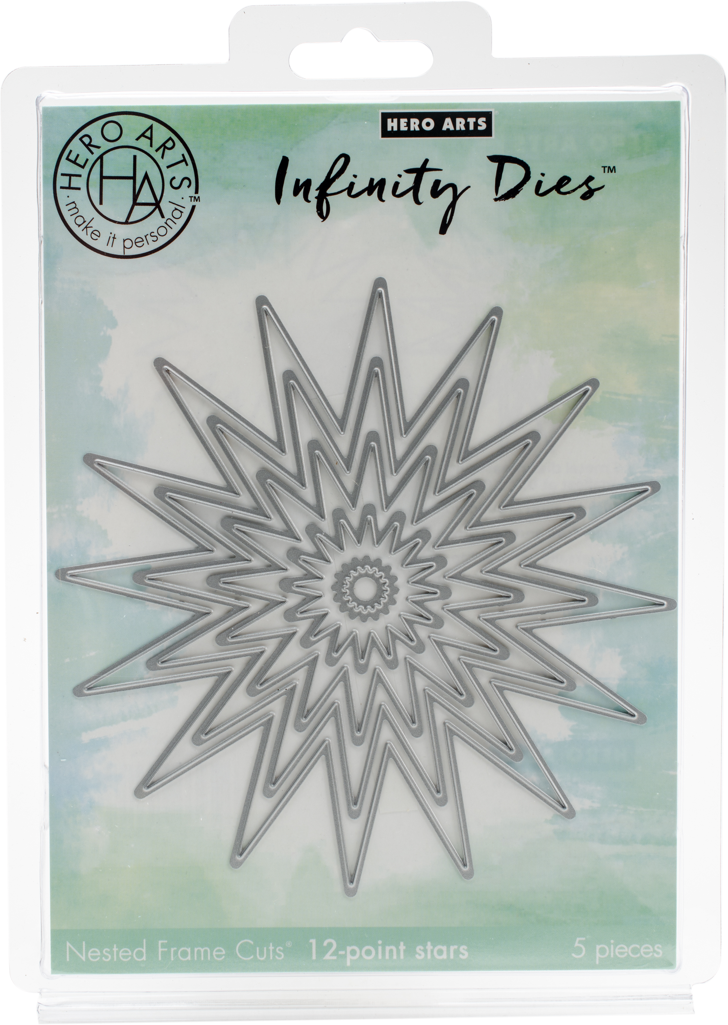 Hero Arts Infinity Dies-12-Point Stars .5 To 5