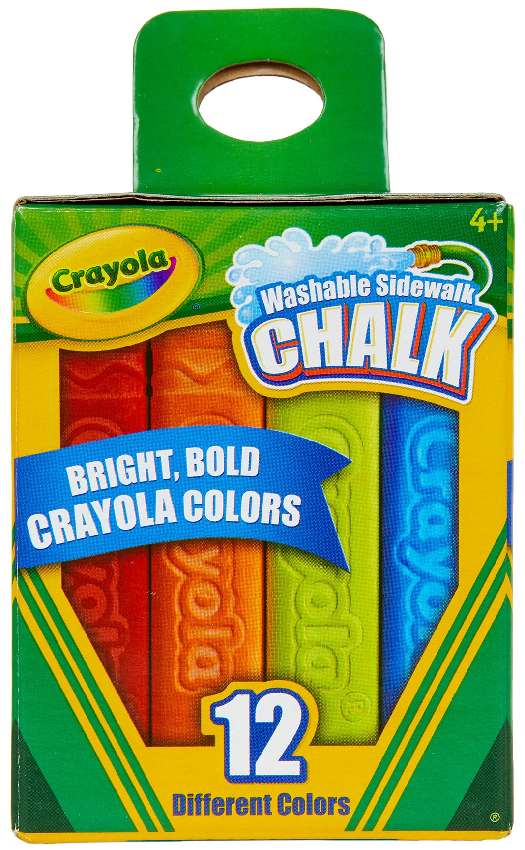 Crayola Washable Sidewalk Chalk-Assorted Colors 12/Pkg