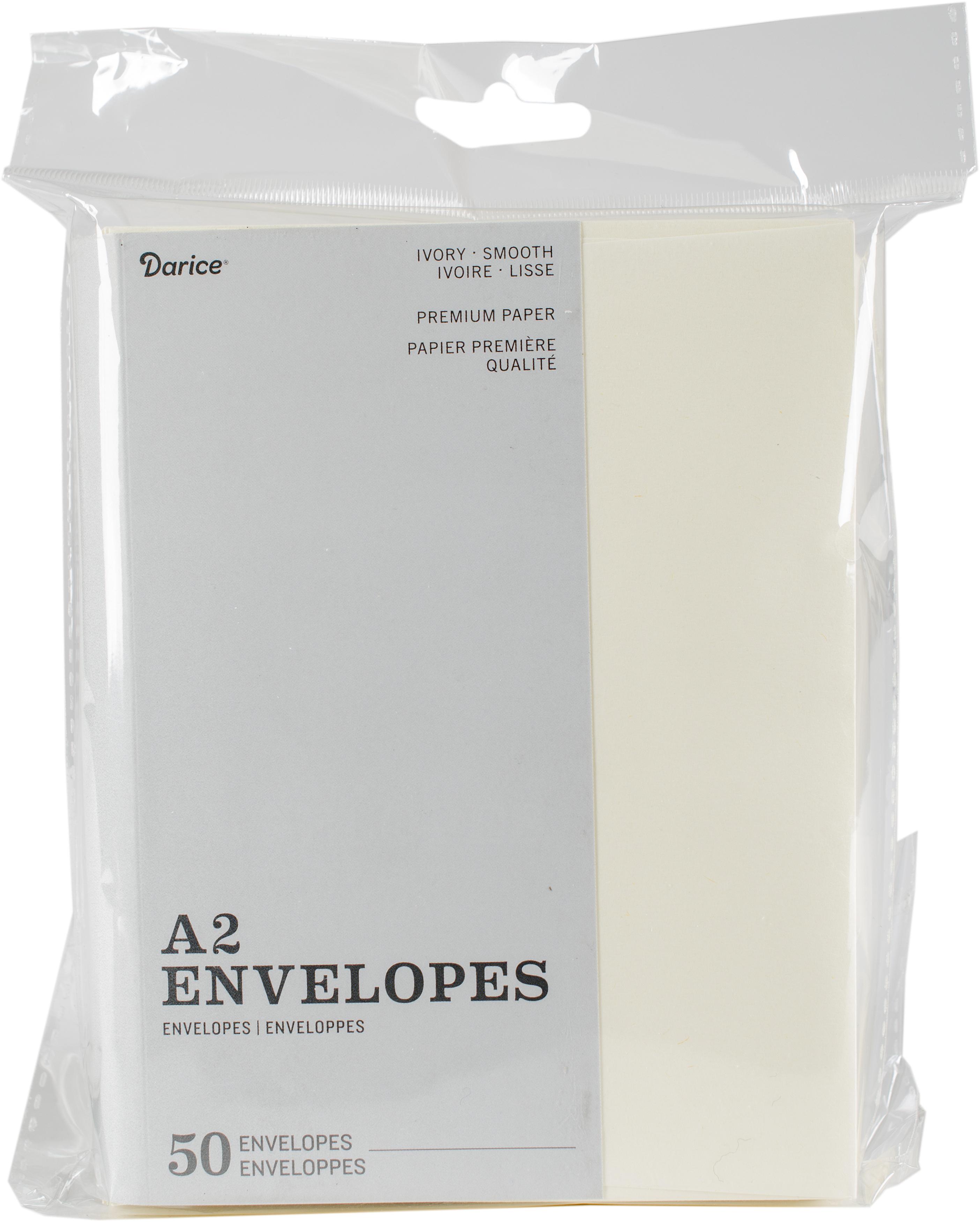 Darice Heavyweight A2 Envelopes (4.375X5.75) 50/Pkg-Ivory