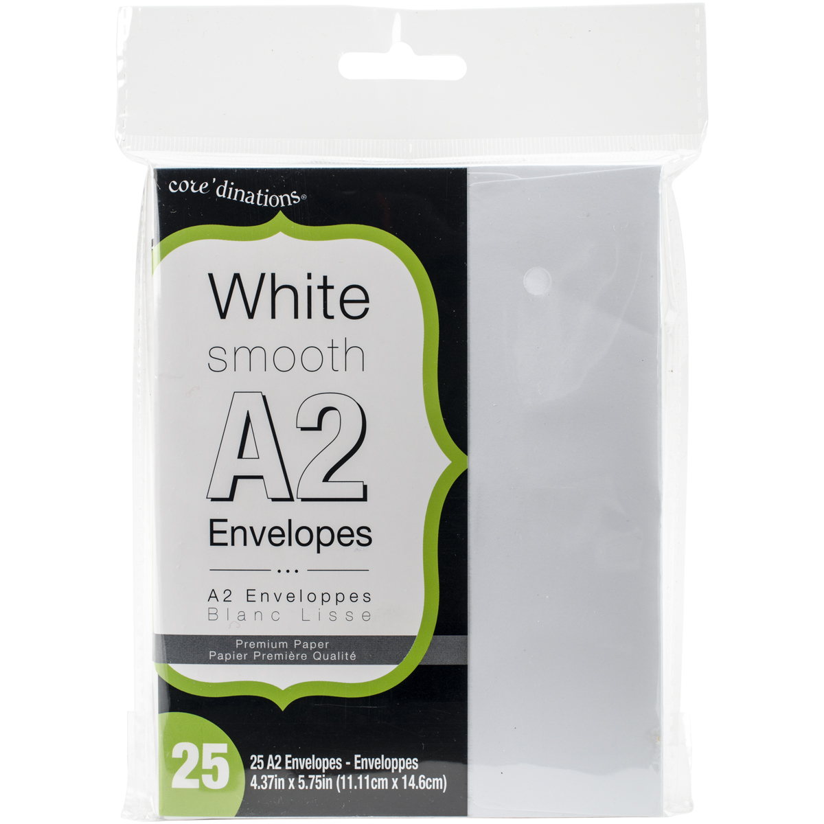 Heavyweight A2 Envelopes (4.375X5.75) 25/Pkg White