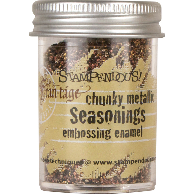 Stampendous Frantage Seasonings Embossing Enamel .63oz-Chunky Metallic