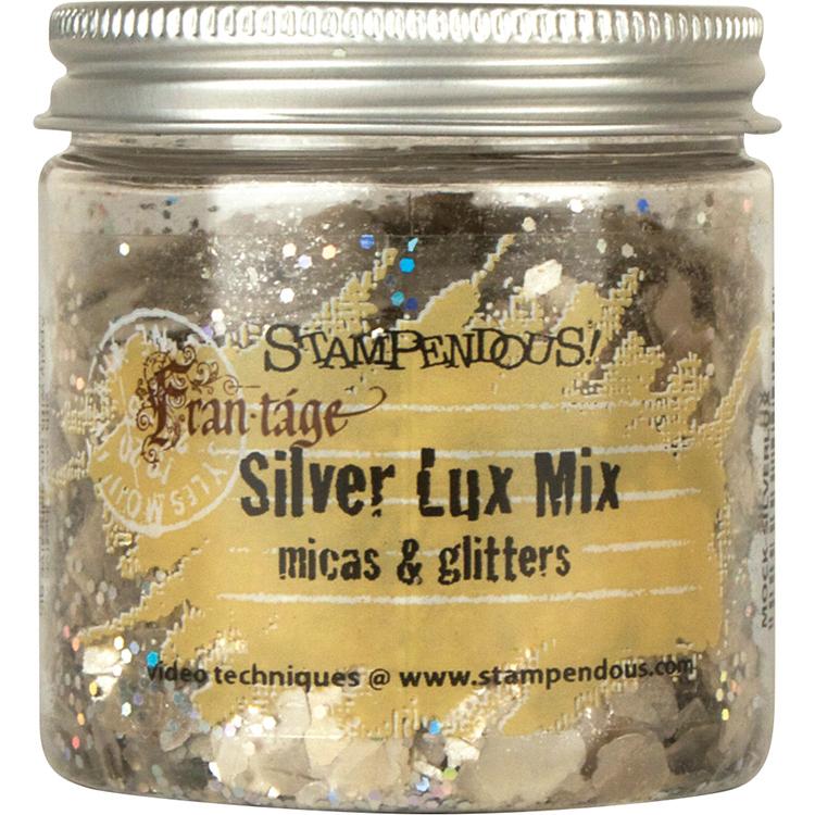 Frantage Micas & Glitters Lux Mix 1.5oz W/Tab-Silver