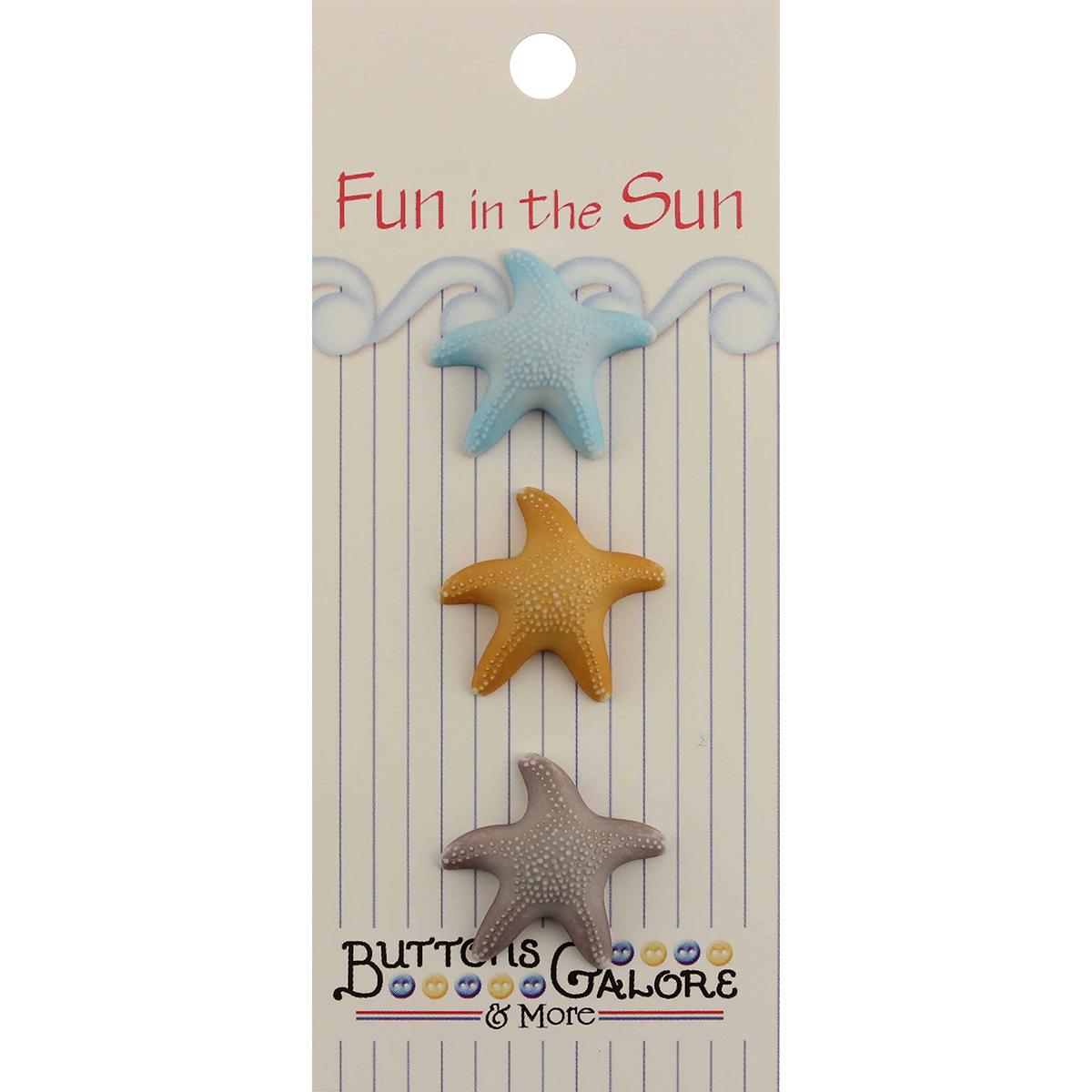 Fun in Sun Buttons - Starfish
