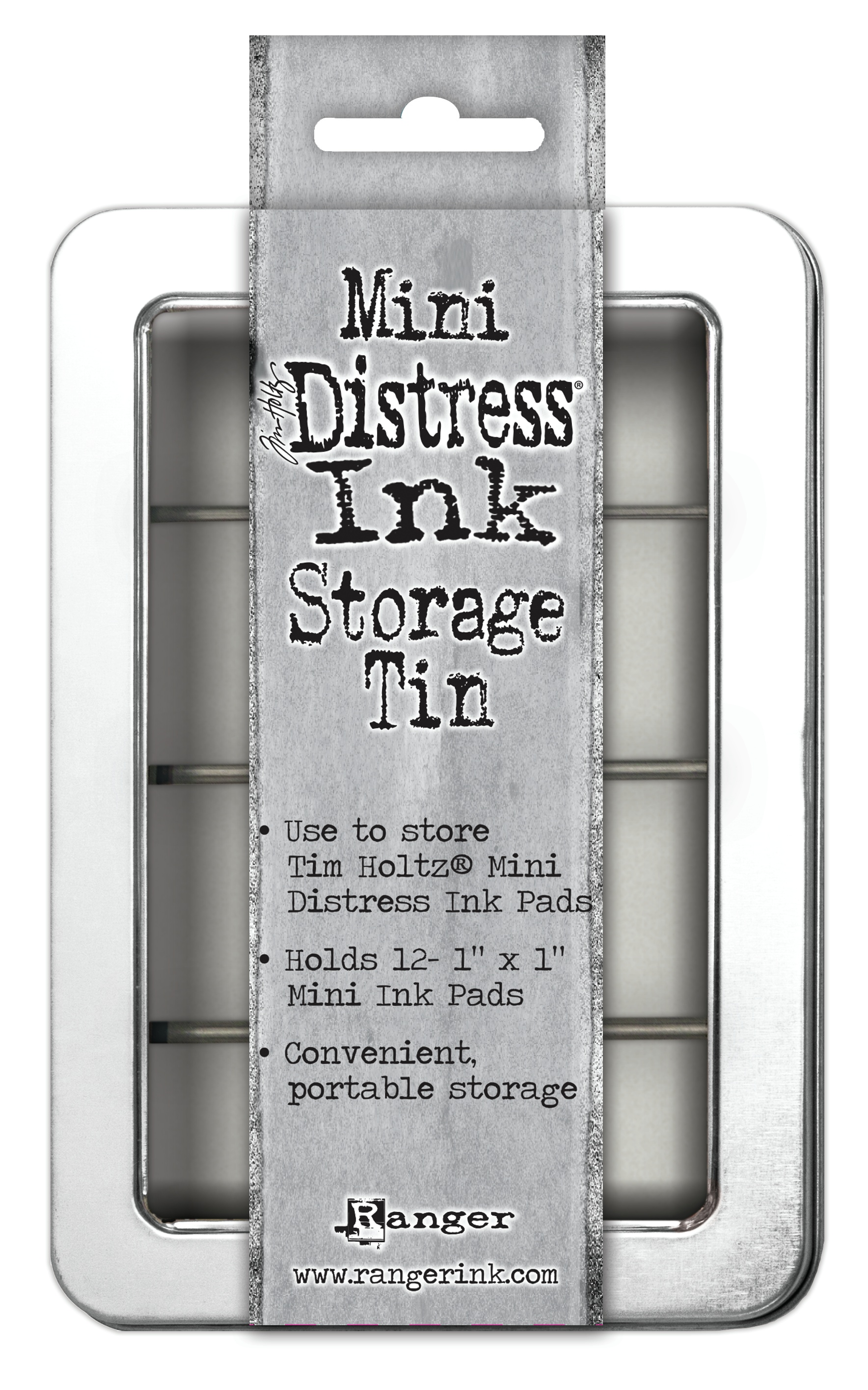 Tim Holtz Mini Distress Ink Storage Tin-Holds 12