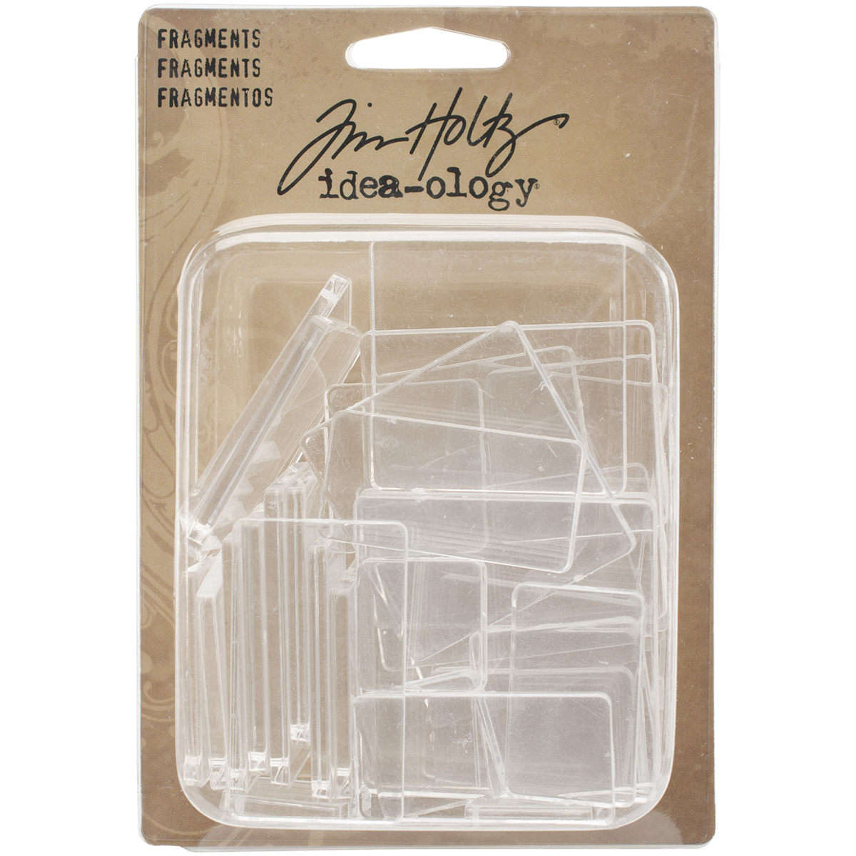 Idea-Ology Fragments Acrylic Shapes 36/Pkg-Rectangles & Squares .75 To 1.75
