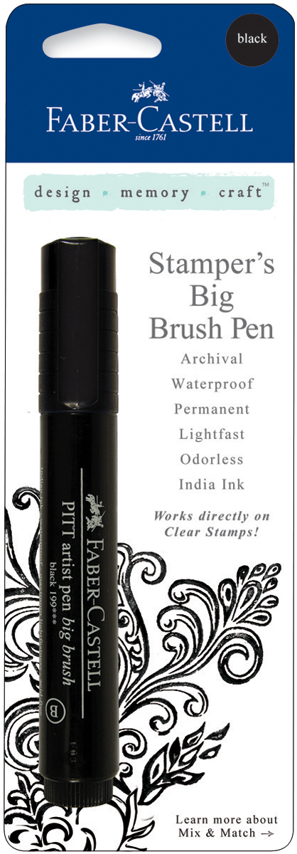 black stamper's big brush pen