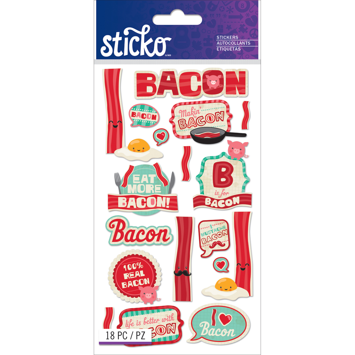 Sticko Bacon Stickers