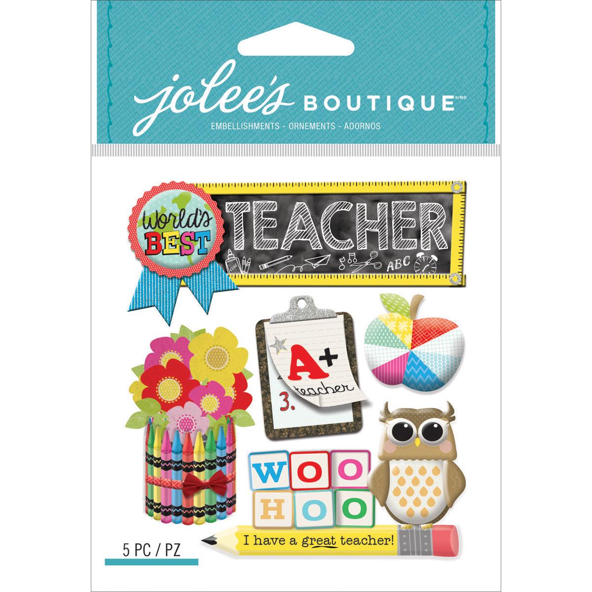 Jolee's Boutique Dimensional Stickers-Teacher