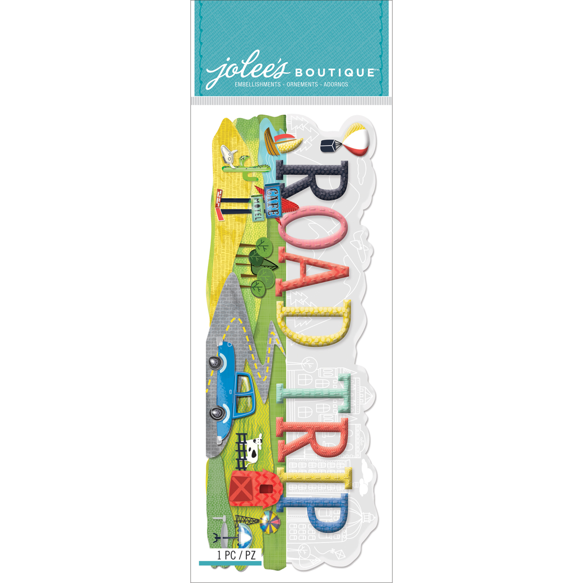 Road Trip 3D Title Sticker