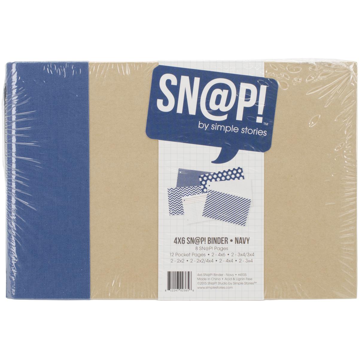 Simple Stories Sn@p! Binder 4X6-Navy
