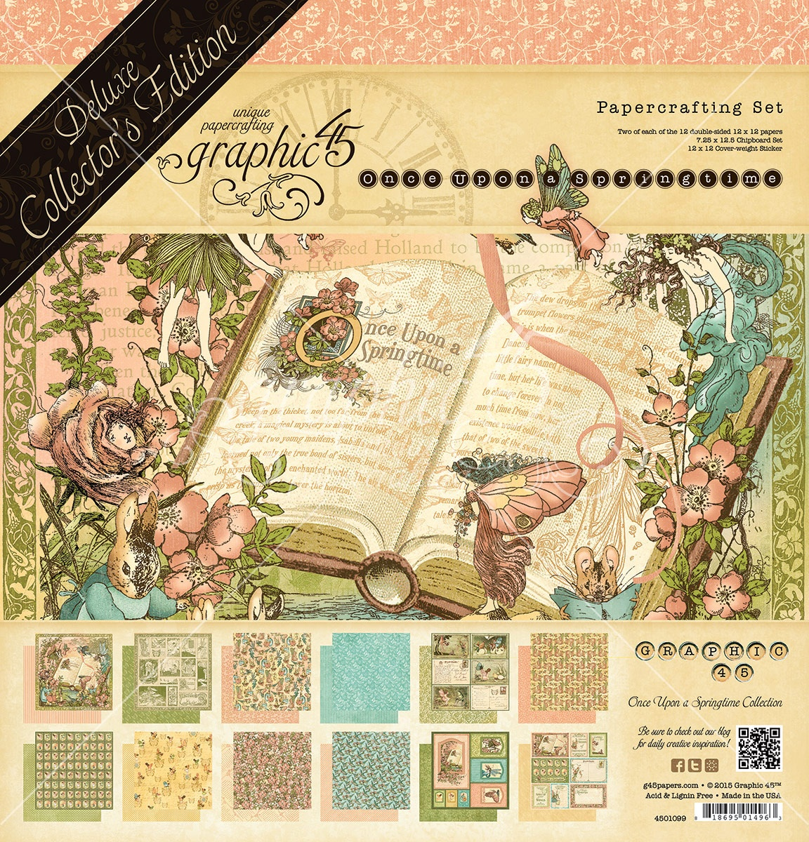 Graphic 45 Deluxe Collector's Edition Pack 12x12 - Once Upon A Springtime