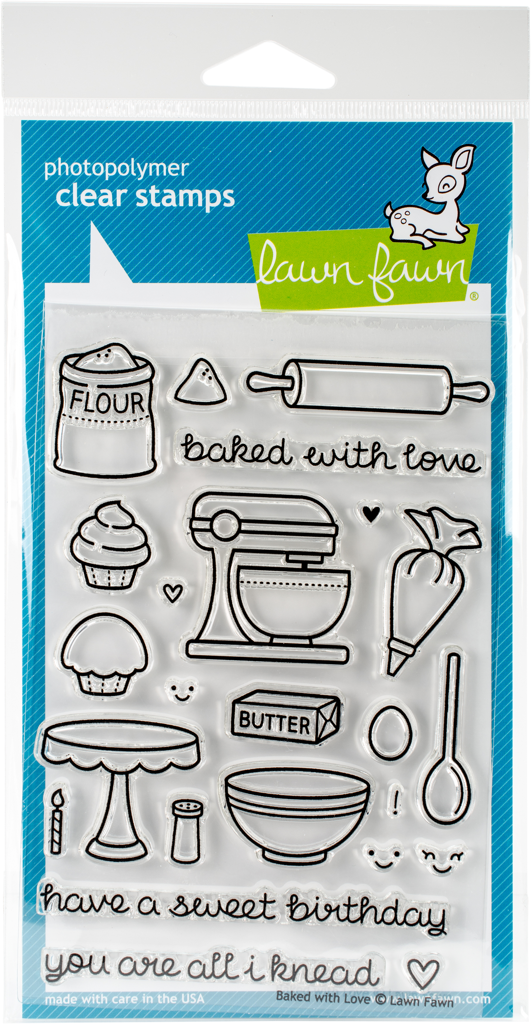 Lawn Fawn Clear Stamps 4X6-Baked With Love